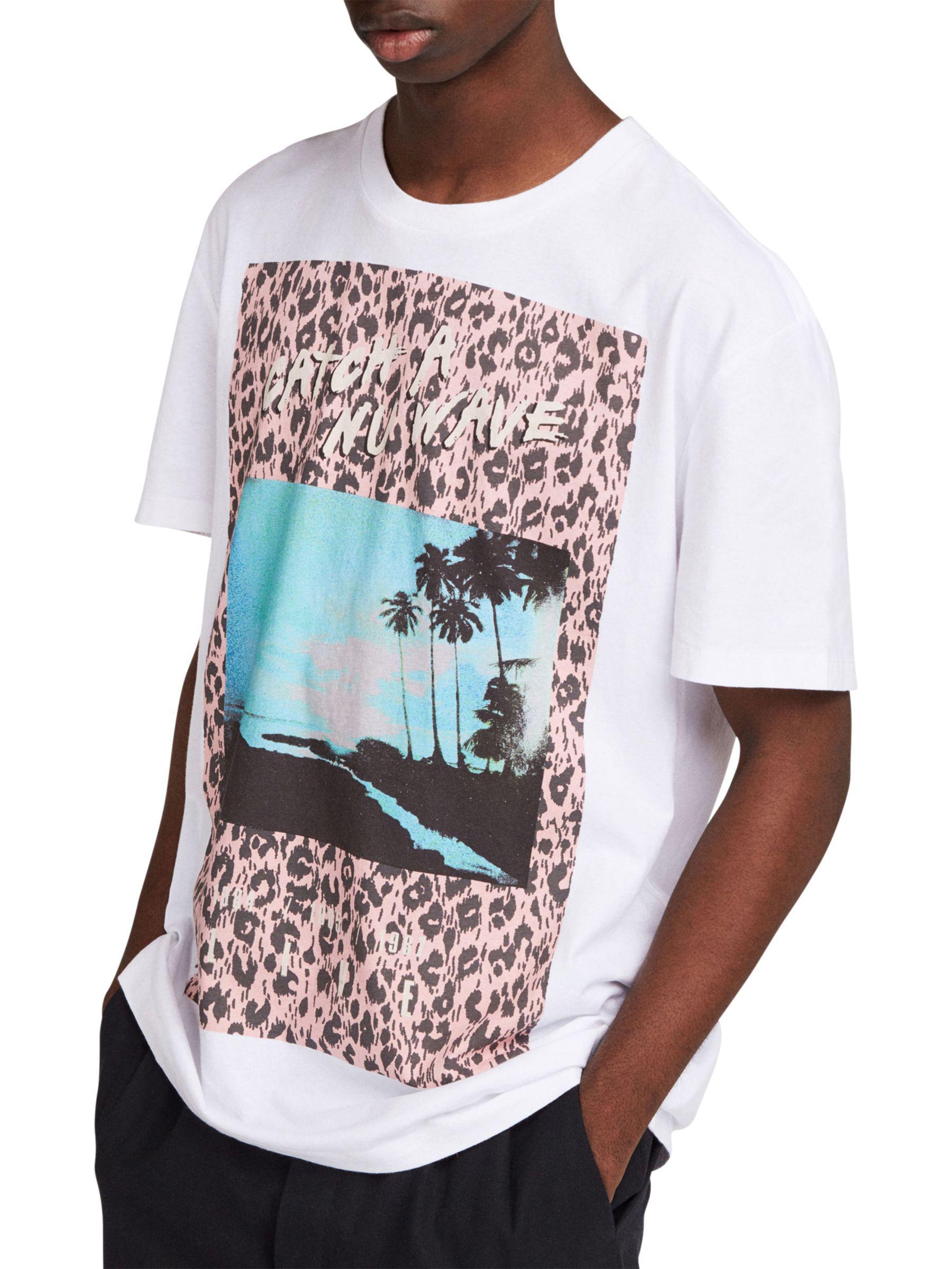 d6aa4dd83 AllSaints Horizon Graphic Print T-shirt in White for Men - Lyst