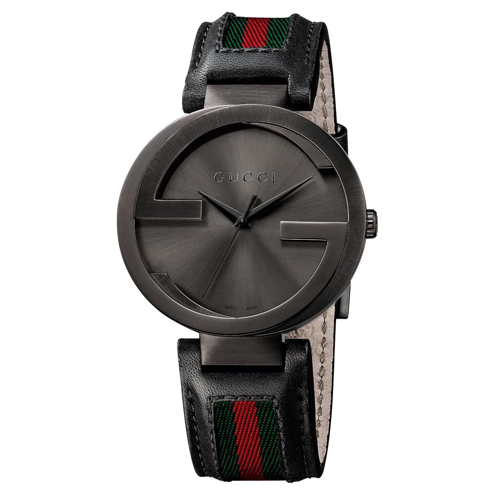 5cd85ab1bae Gucci Ya133206 Men s Interlocking G Fabric Strap Watch in Black - Lyst