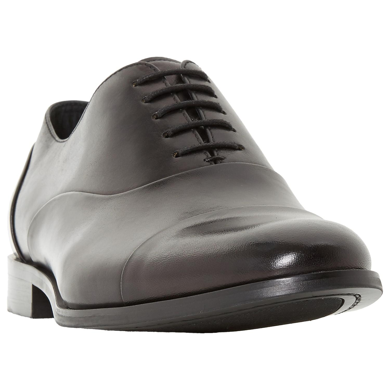 Dune Leather Robb Round Toecap Oxford Shoes in Black for Men