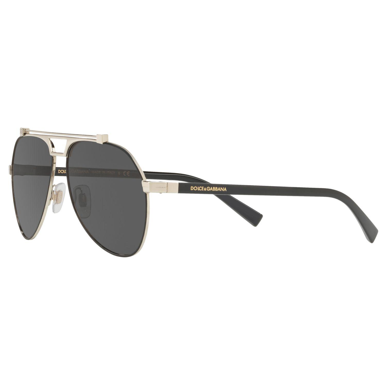 7b6d62c76428e Dolce   Gabbana - Gray Dg2189 Aviator Sunglasses for Men - Lyst. View  fullscreen