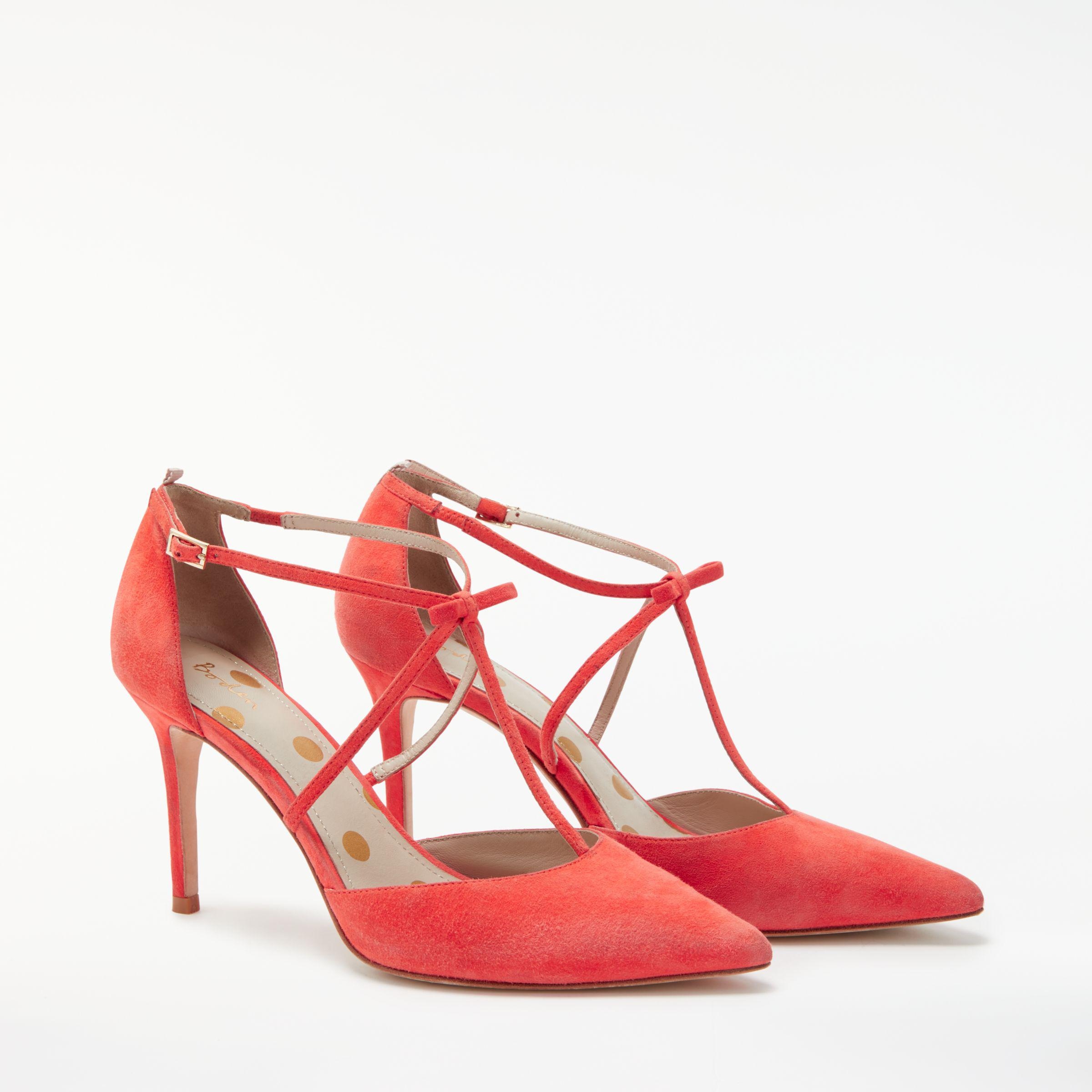 6e5fdd526784 Boden Jennifer T-bar Court Shoes in Red - Lyst