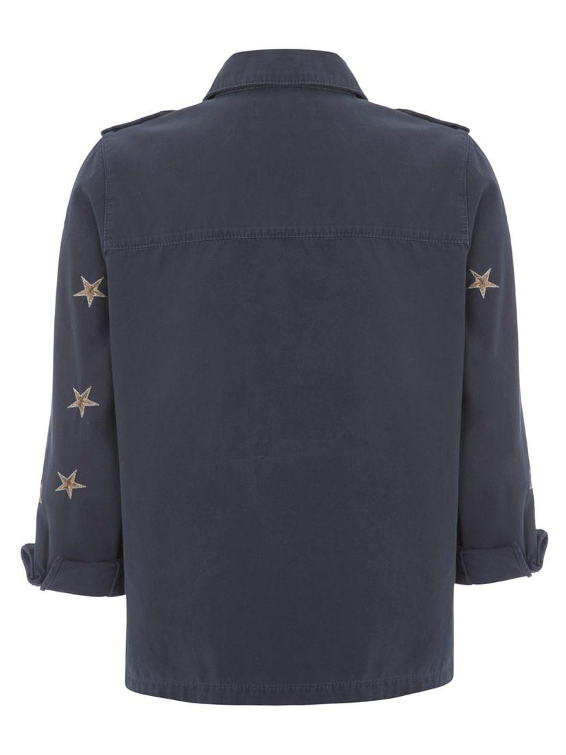 dirt cheap how to buy picked up John Lewis Mint Velvet Star Utility Jacket in Blue - Lyst