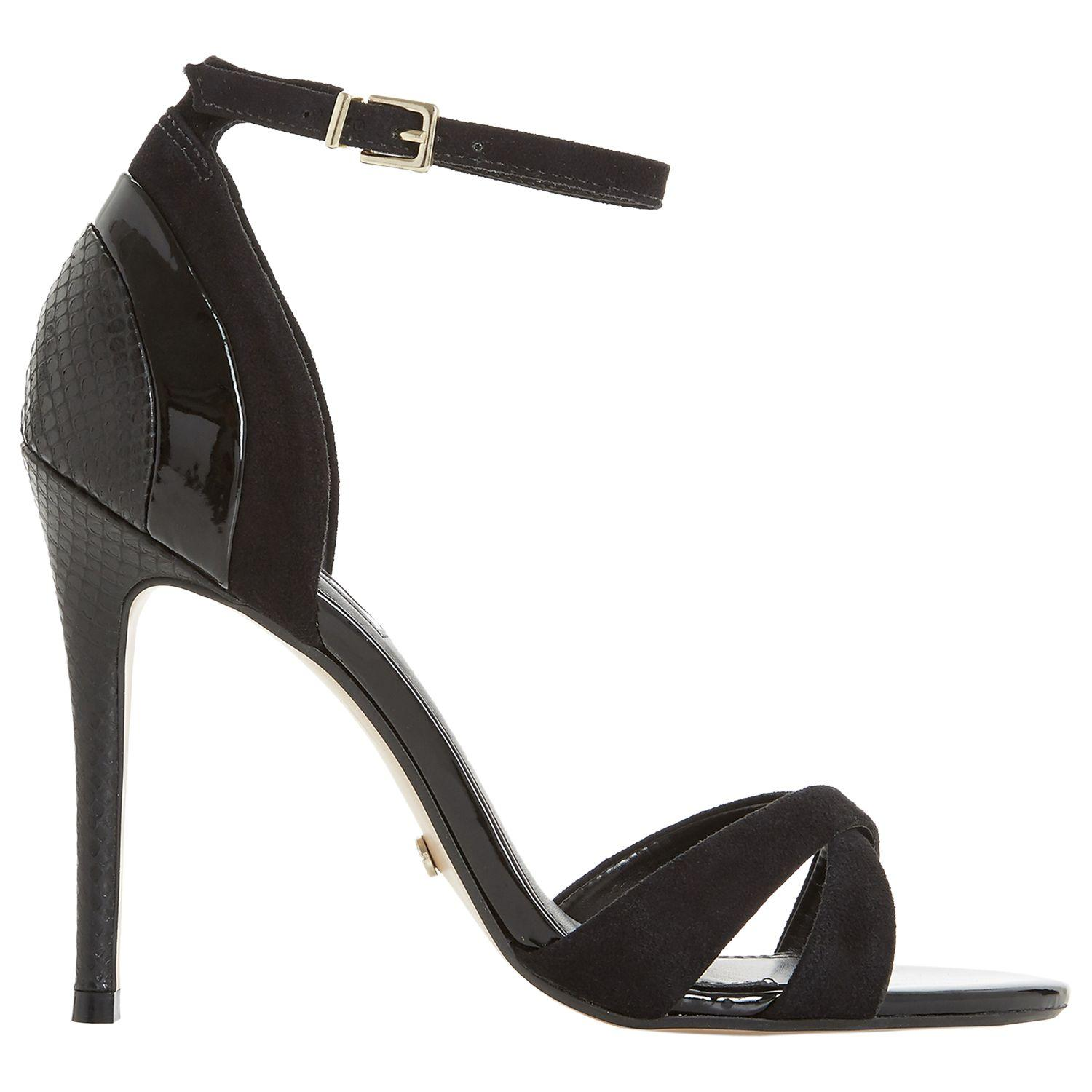0cdee6e058 Dune. Women's Black Marcy Stiletto Heel Sandals. £85 £42 From John Lewis  and Partners