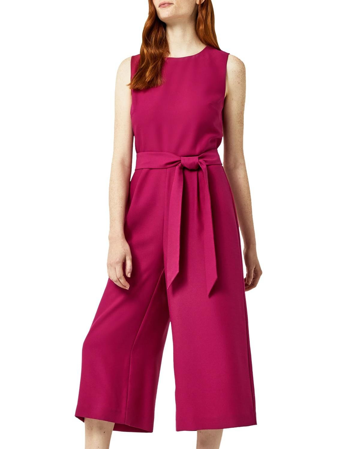 be4385035ad Warehouse Open Back Culotte Jumpsuit in Pink - Lyst