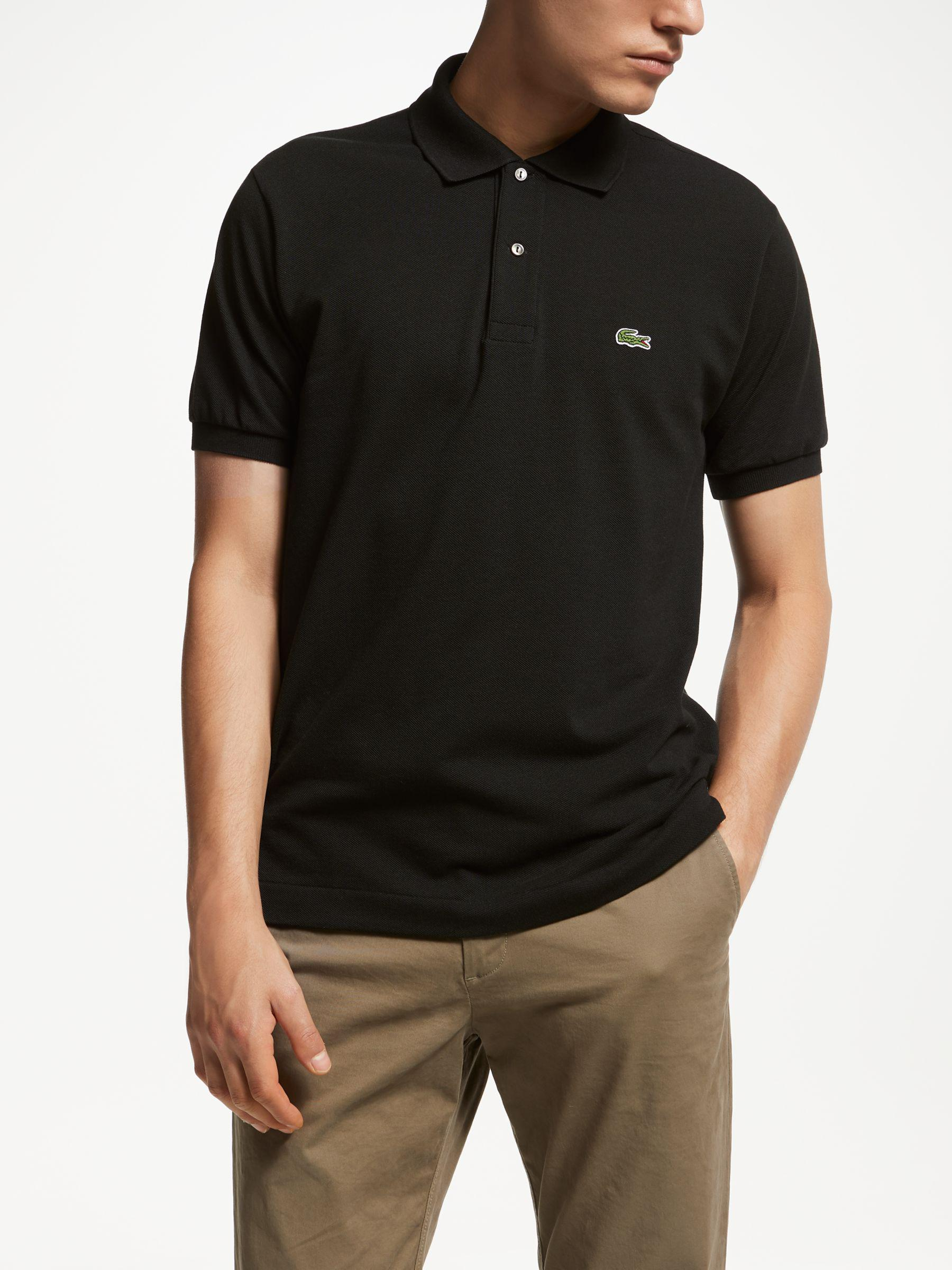 1104b431 Lacoste L.12.12 Classic Regular Fit Short Sleeve Polo Shirt in Black ...