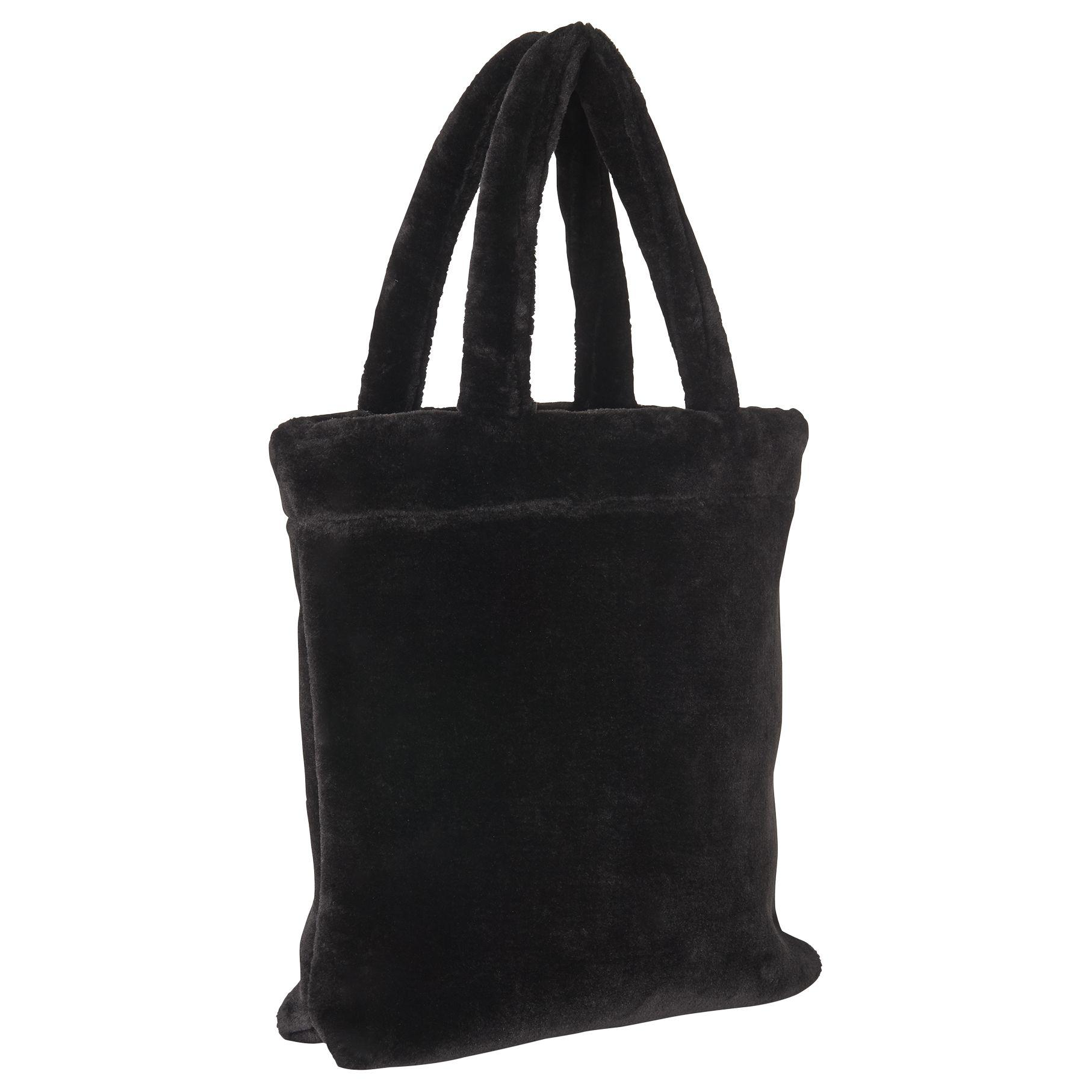 Whistles Faux Fur Tote in Black