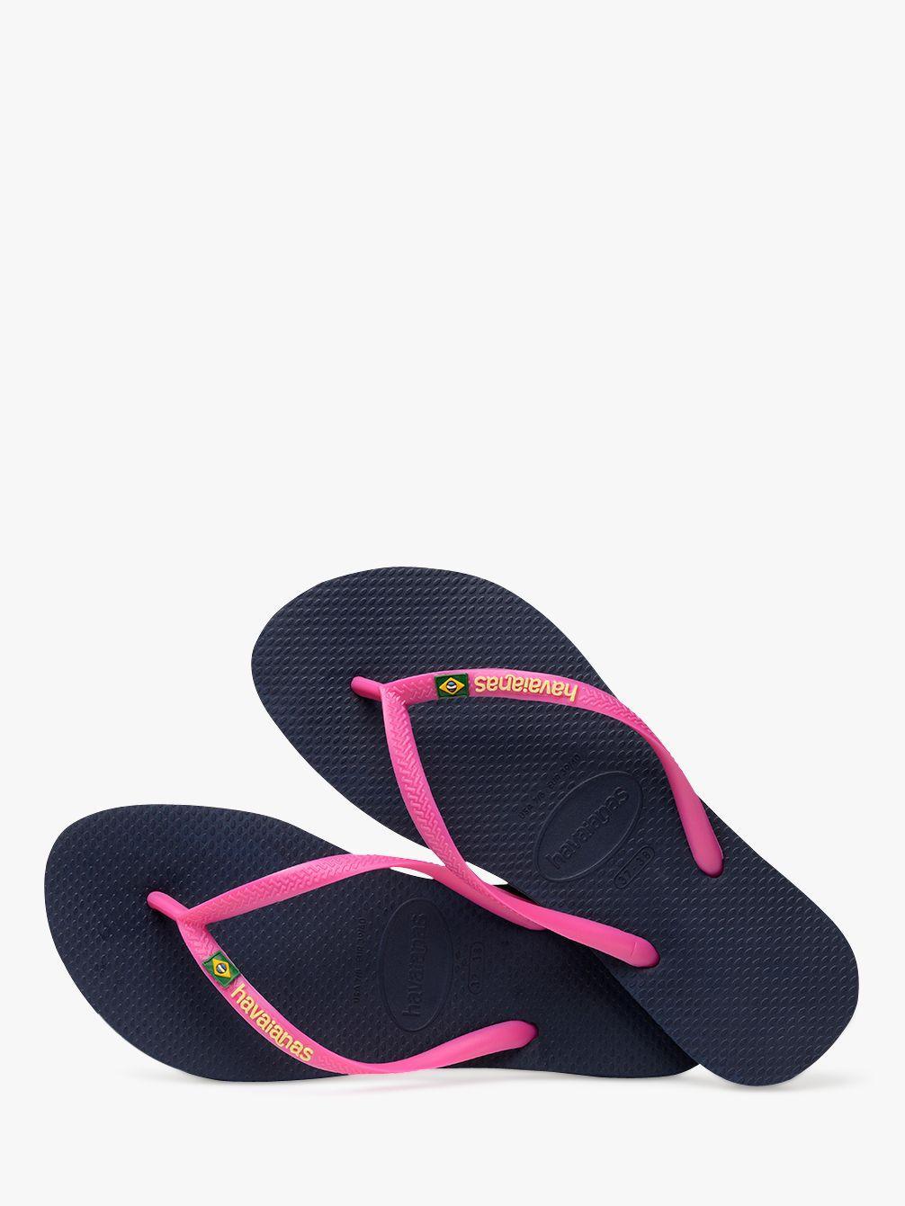 7085afea1 Havaianas Slim Brasil Logo Flip Flops - Lyst