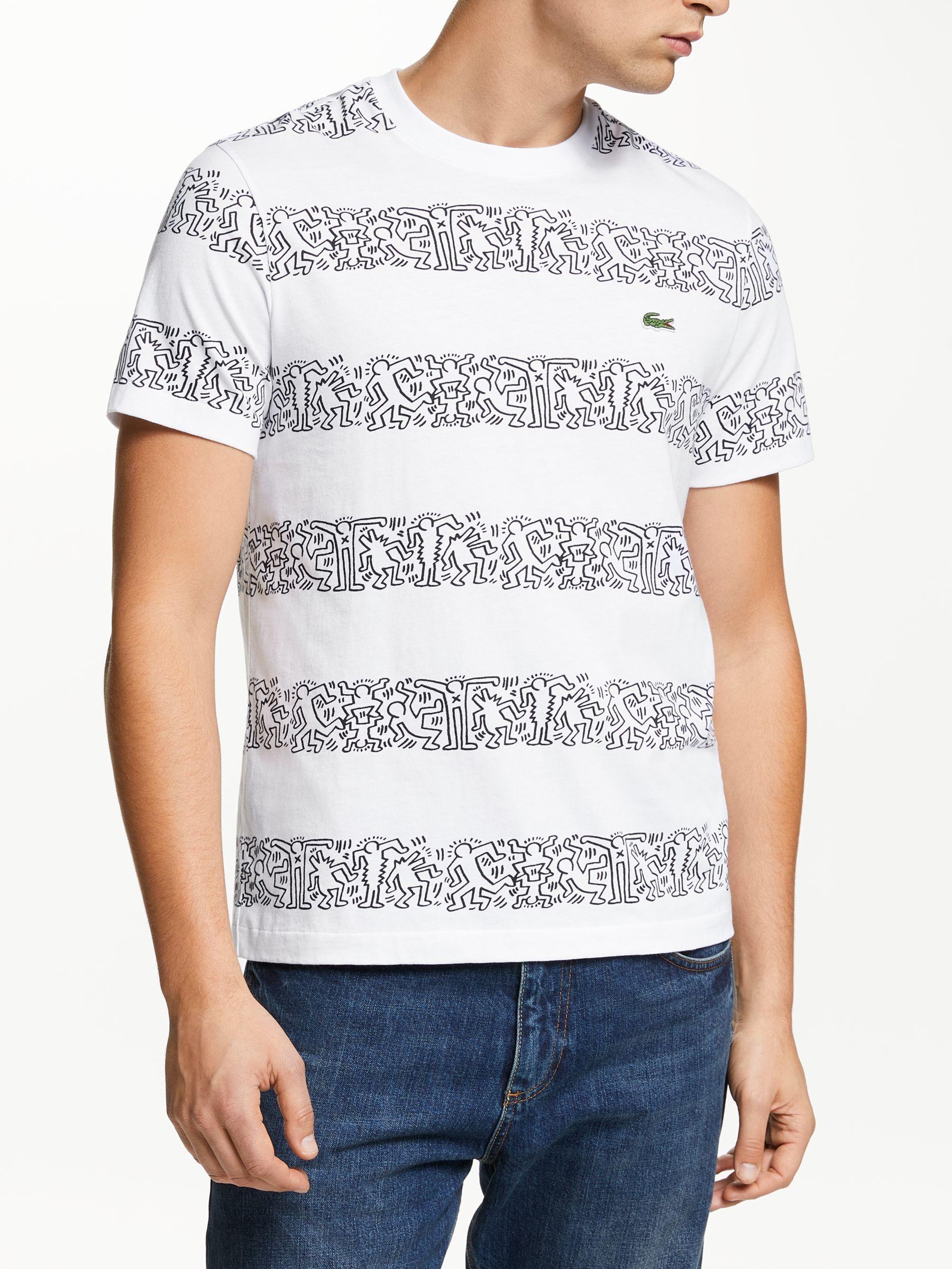 156142063ca Lacoste X Keith Haring Graphic Print Stripe T-shirt in Blue for Men ...