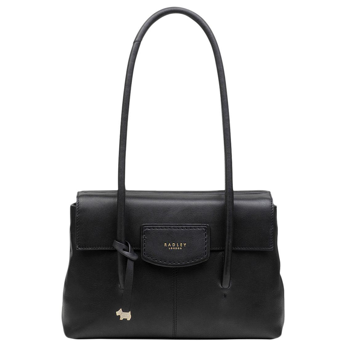 7ecf36e19d8 Radley. Women s Black Burnham Beaches Leather Medium Tote Bag. £185 From John  Lewis and Partners