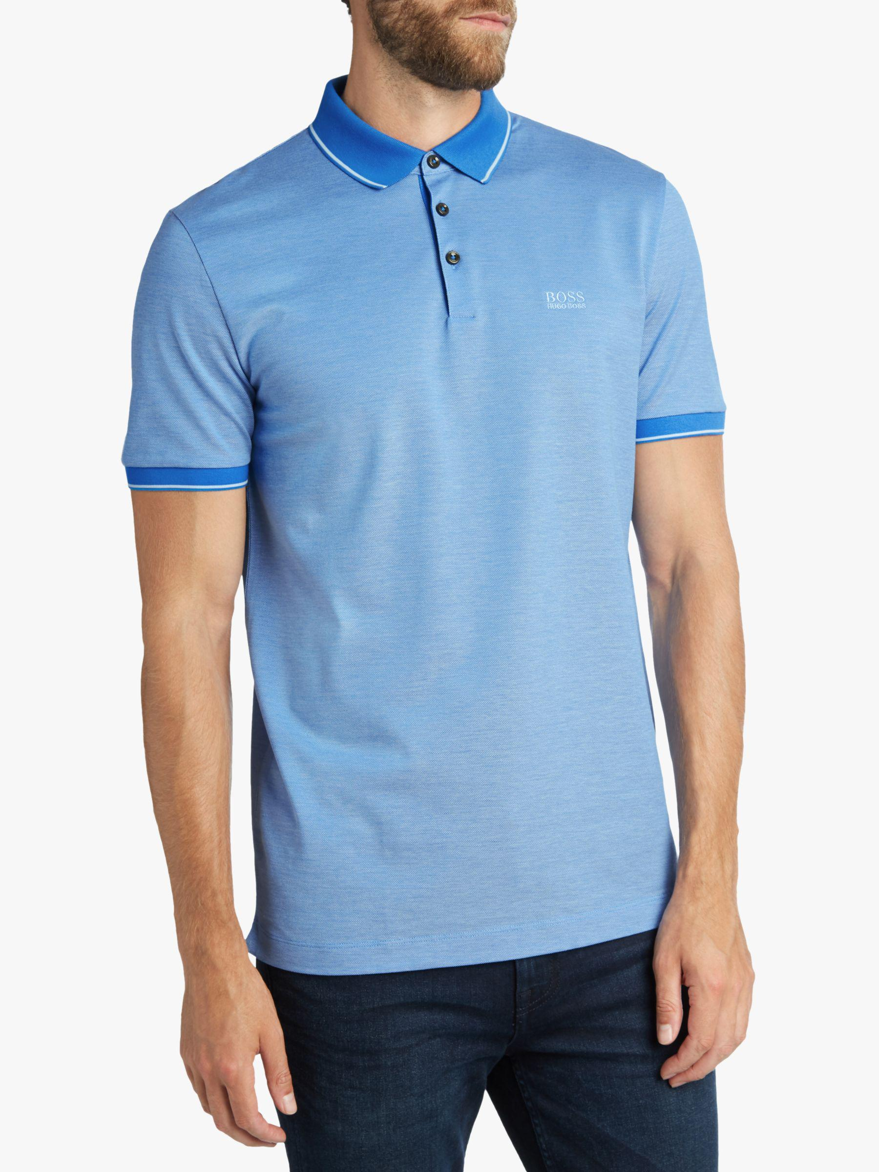 068e580360d6 BOSS. Men's Blue Boss Prout Short Sleeve Polo Shirt. £99 From John Lewis  and Partners ...