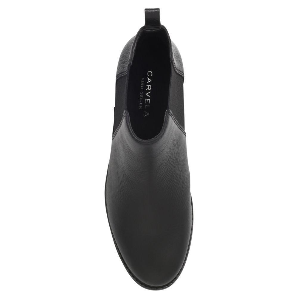 Carvela Kurt Geiger Denim Storm Ankle Boots in Black Leather (Black)