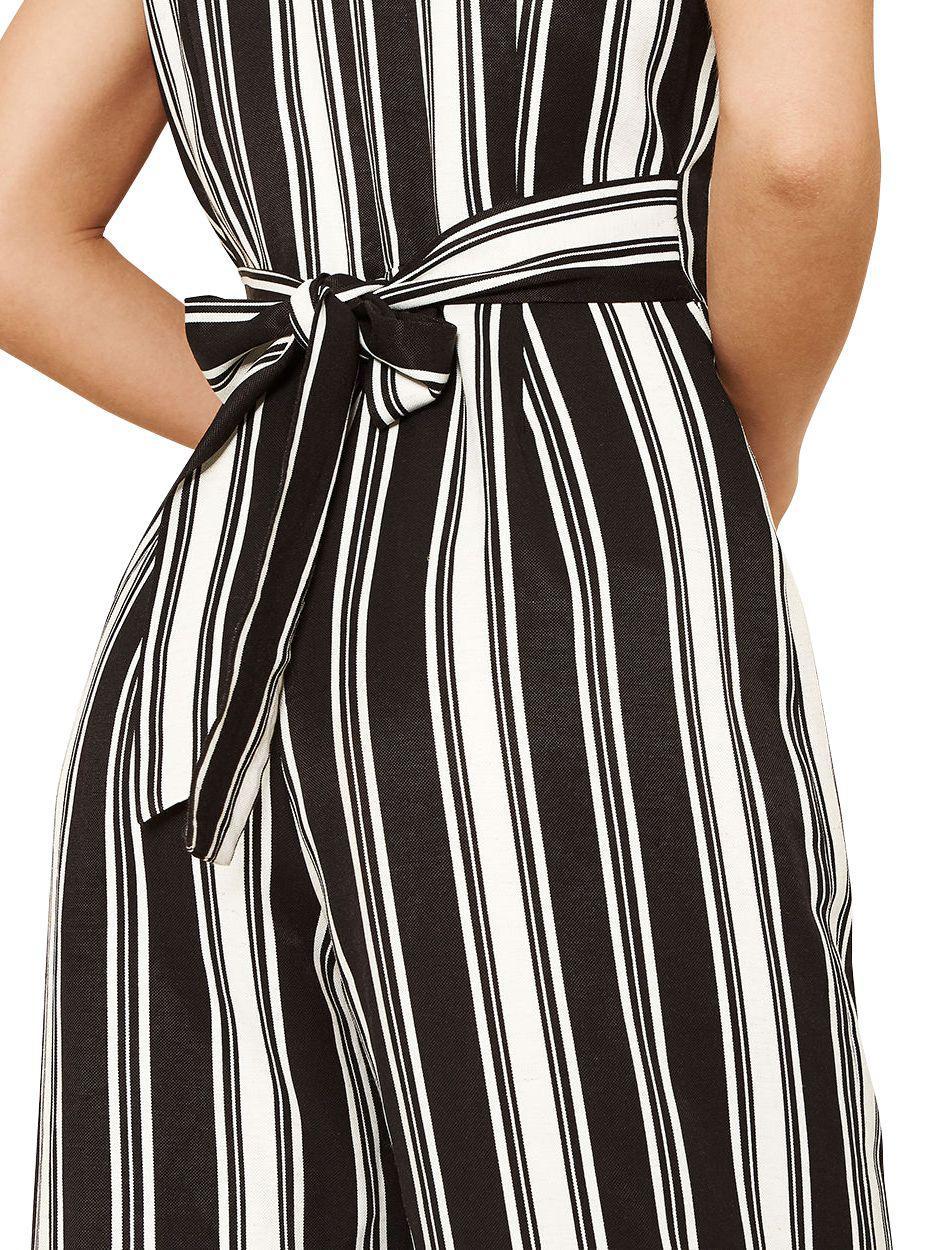 c4ebf5eaabf Oasis Stripe Jumpsuit in Black - Lyst