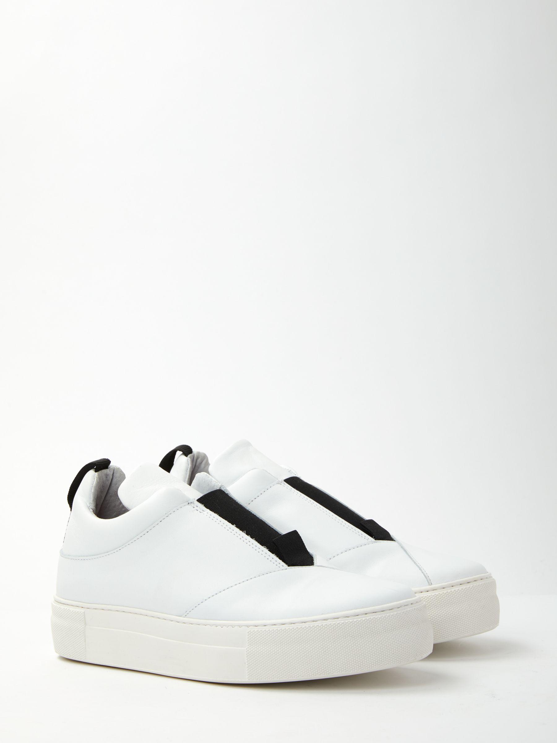5e4fdcf0e01 SELECTED Ann Leather Slip On Trainers in White - Lyst