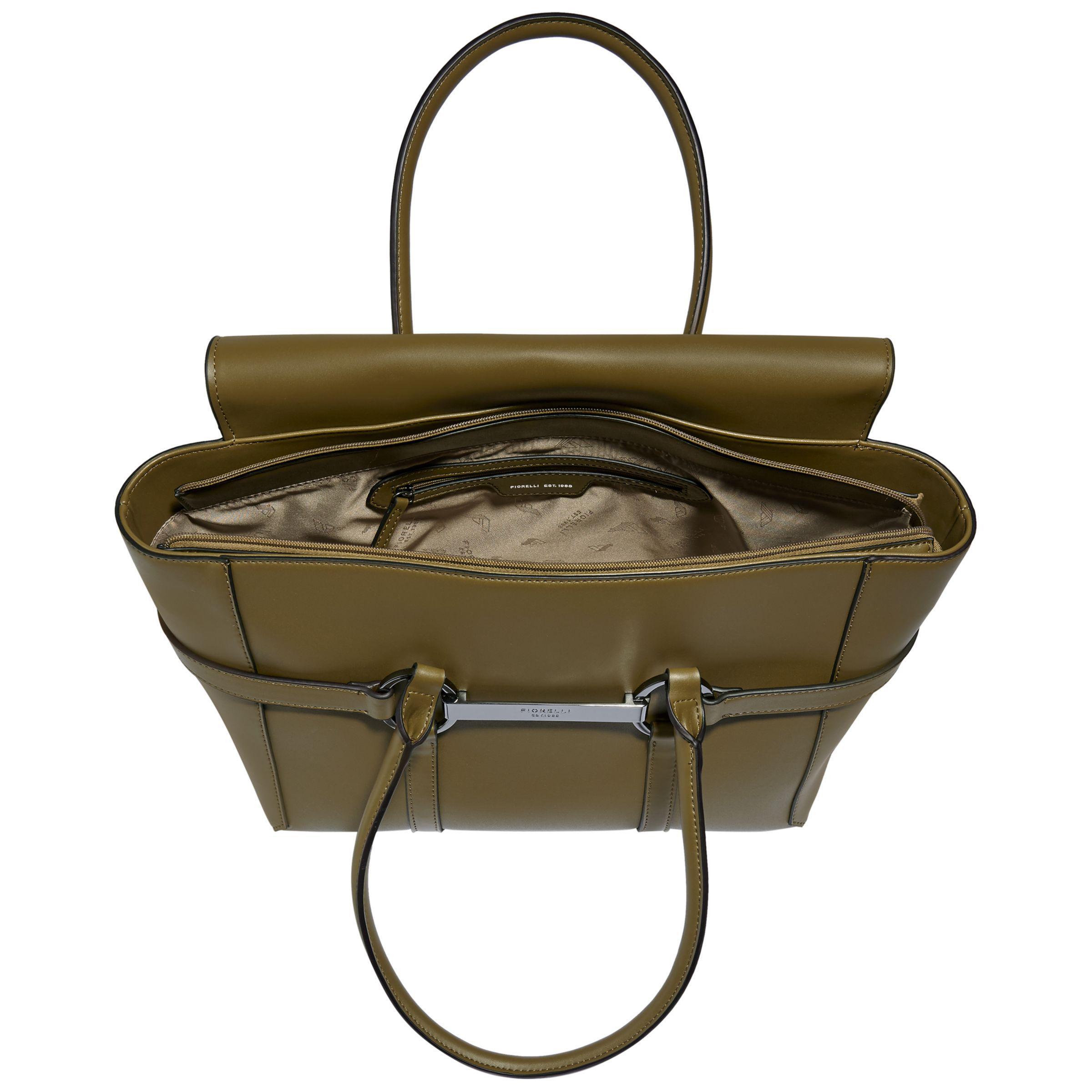 Fiorelli Barbican Large Flapover Tote Bag in Olive (Green)