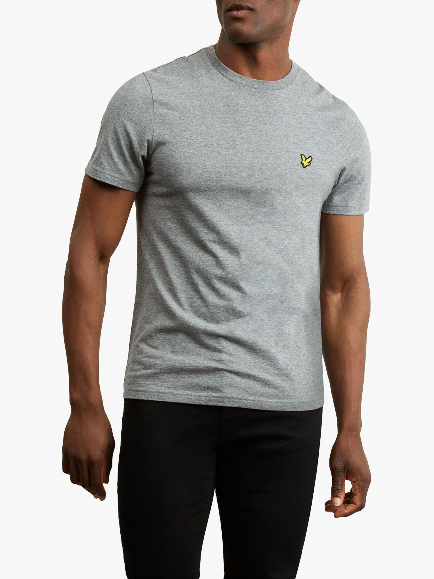 15c746aa6 Lyle & Scott Plain Crew Neck T-shirt in Gray for Men - Save 20% - Lyst