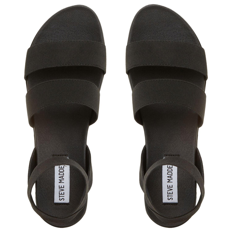 f3e93772b06 Women's Black Delicious Strappy Flat Sandals