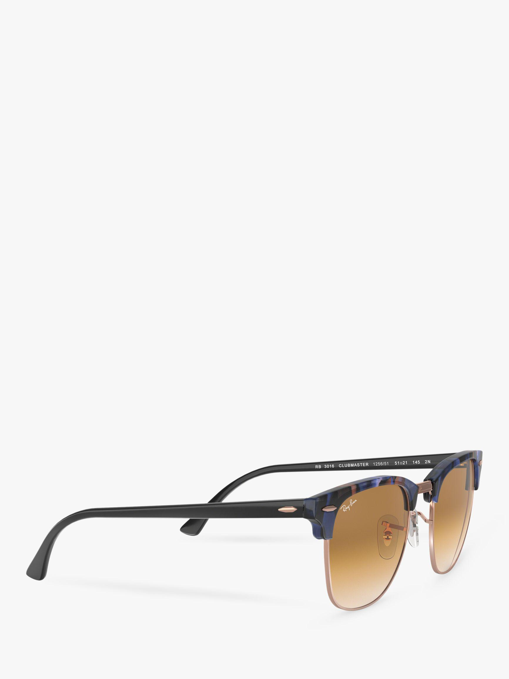 12525e3e22 Ray-Ban Rb3016 Men s Classic Clubmaster Sunglasses in Brown for Men ...