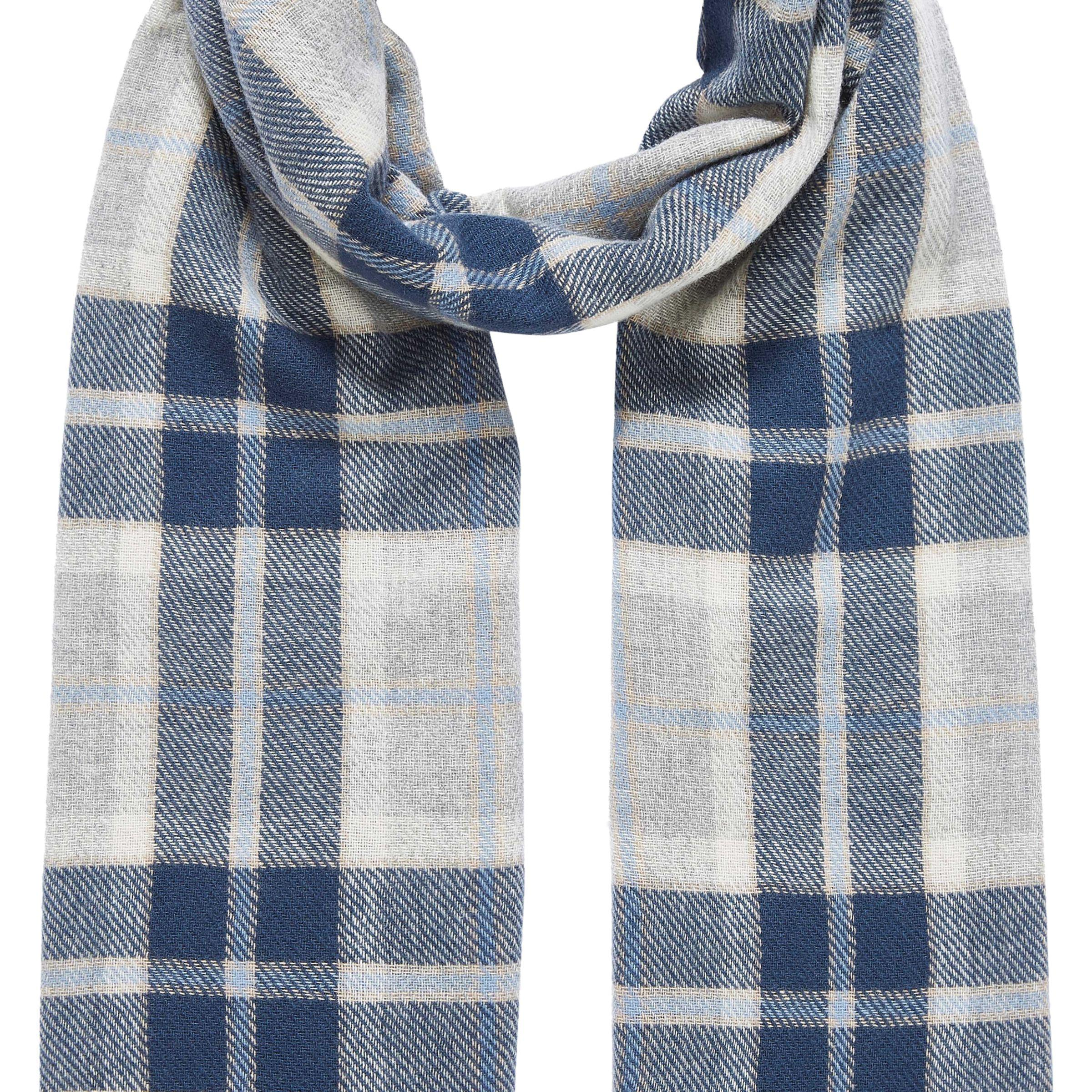 bf46c654ea125 Brora Cashmere Plaid Blanket Stole in Blue - Lyst