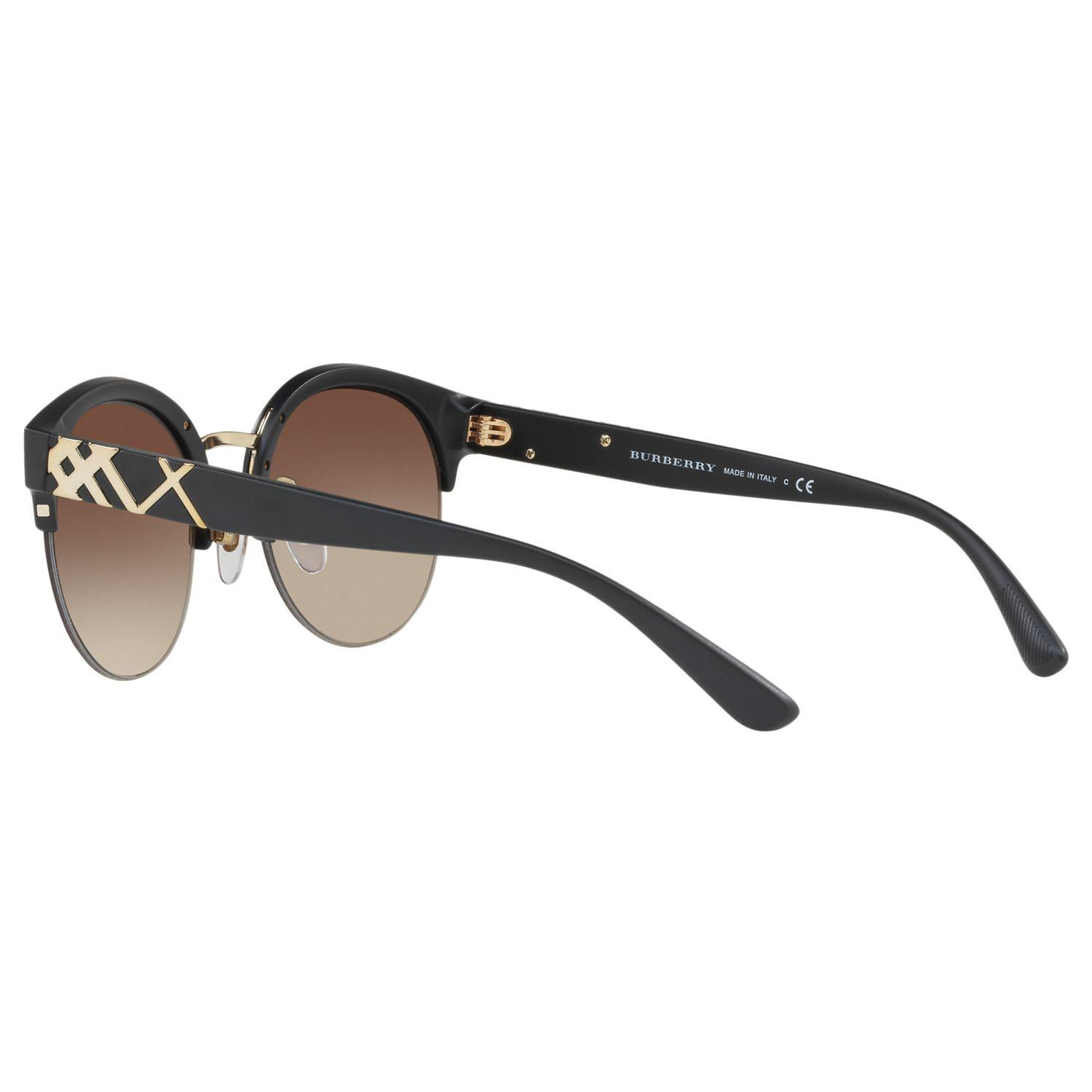 Burberry Synthetic Be4241 Round Sunglasses in Brown