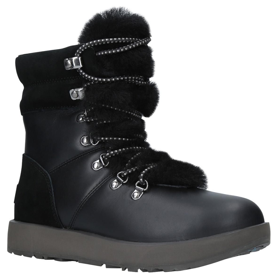 90bae212735 UGG Viki Waterproof Ankle Boots in Black - Lyst