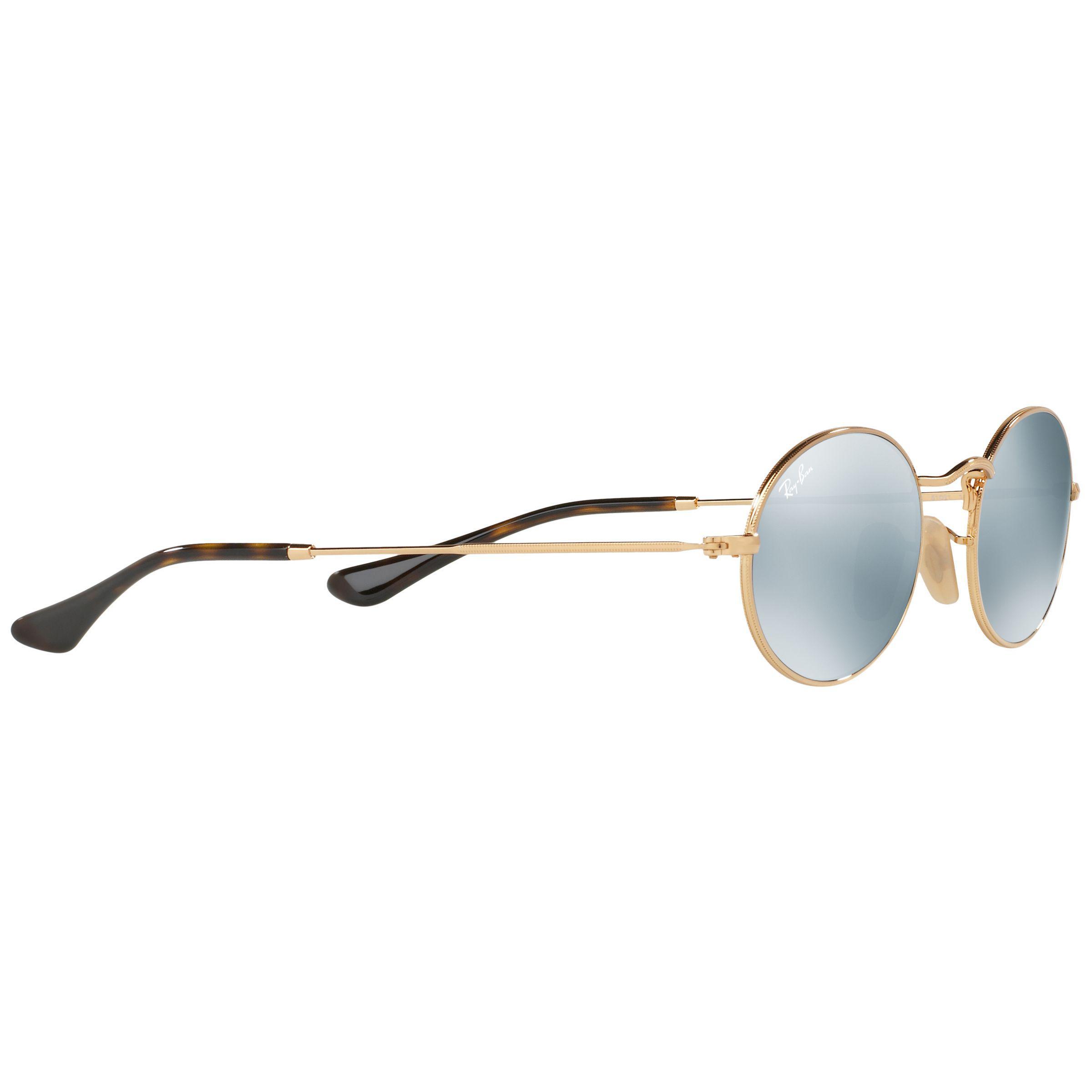 dc34adb75b Ray-Ban - White Rb3547 Oval Flat Lens Sunglasses - Lyst. View fullscreen