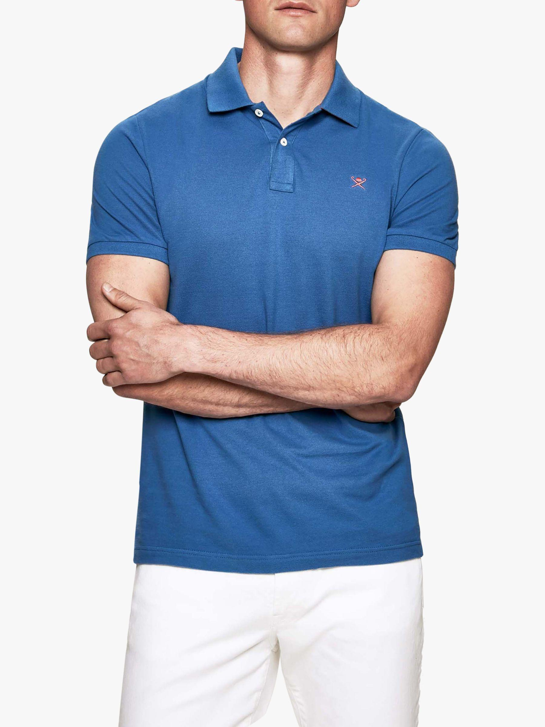 fd002a86 Hackett. Men's Blue Short Sleeve Logo Polo Shirt. £52 From John Lewis and  Partners