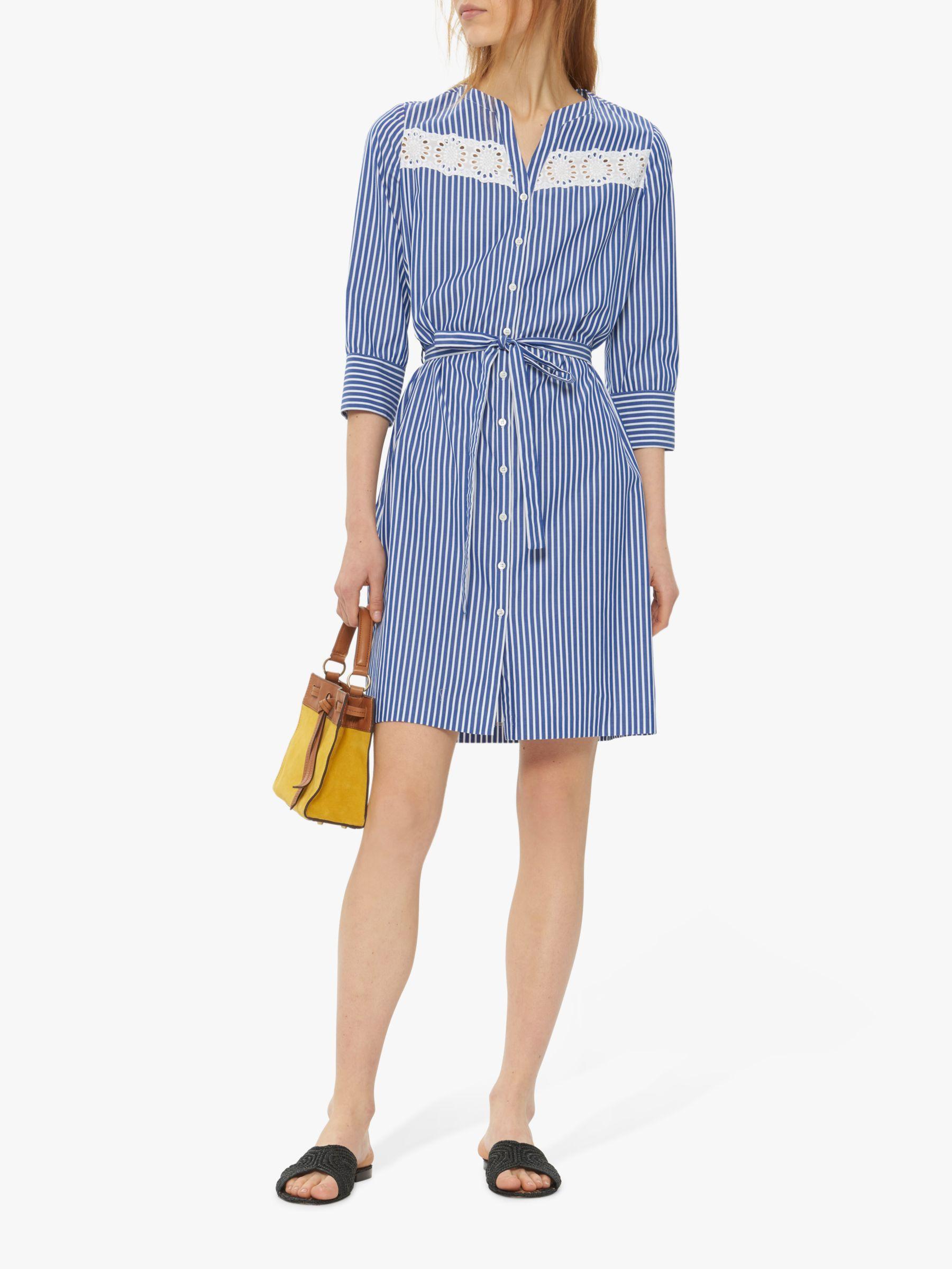 9d89a28450aecc Gerard Darel Ted Baker Gael Stripe Shirt Dress in Blue - Lyst