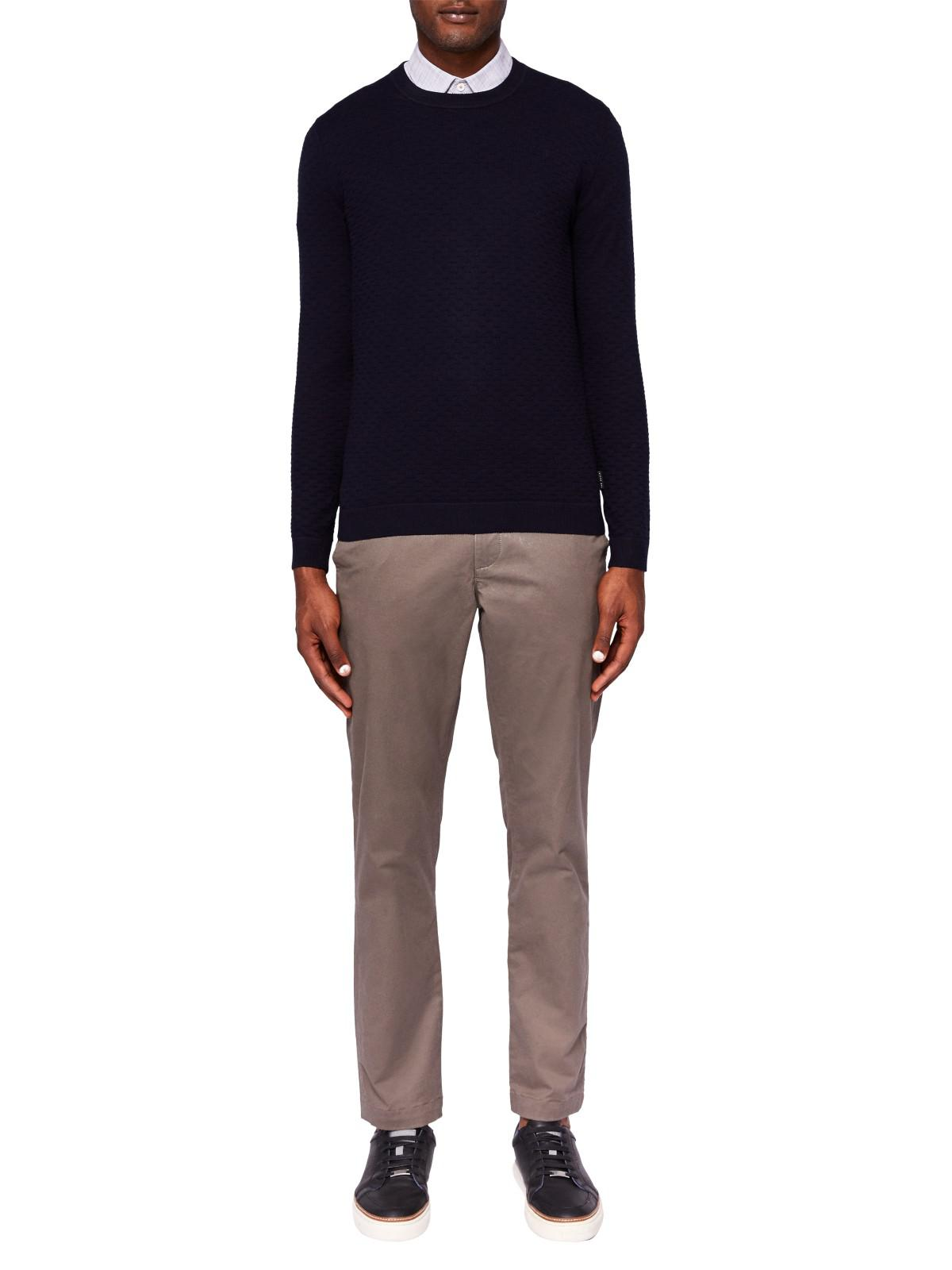 Ted Baker Cotton Clascor Chino Trousers in Natural for Men