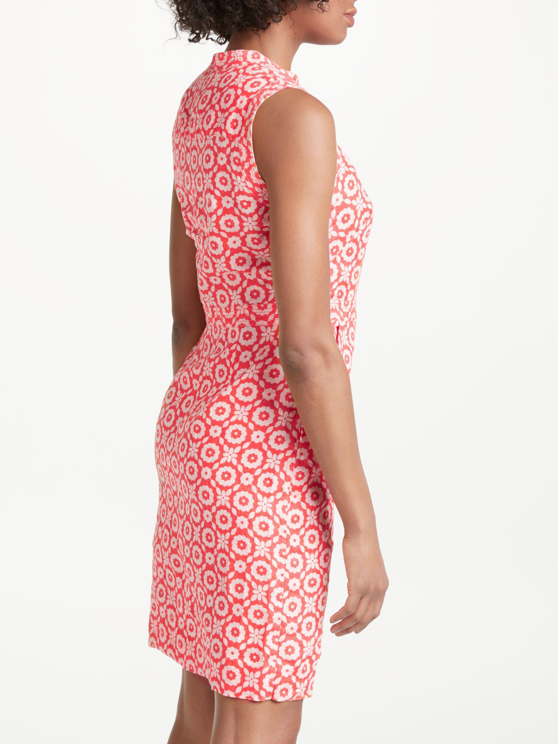 8adc7e7076b Boden Linen Notch Neck Dress - Lyst