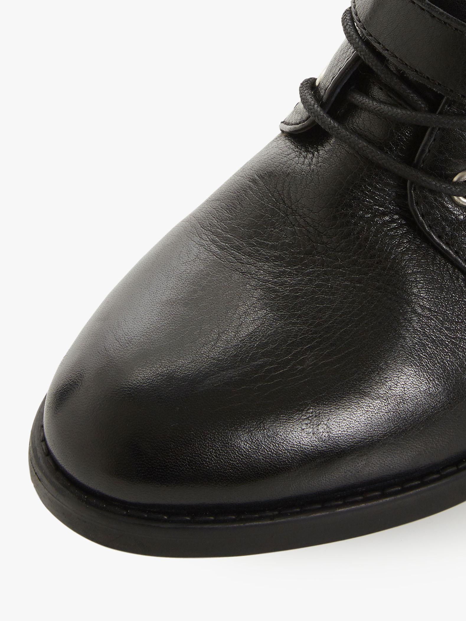 Dune Lace Paxtone Buckled Leather Boots