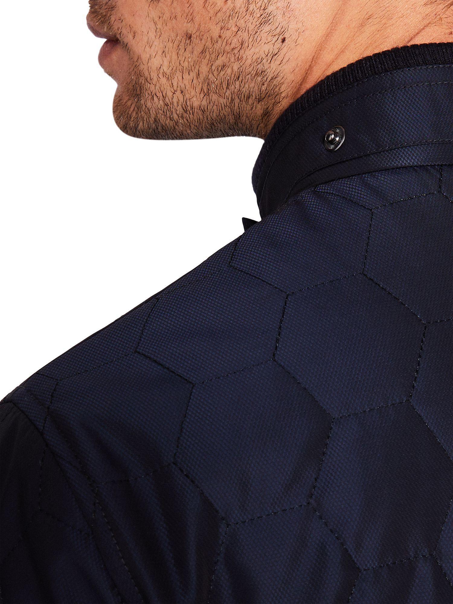 Ted Baker Denim Dalway Quilted Jacket in Navy (Blue) for Men