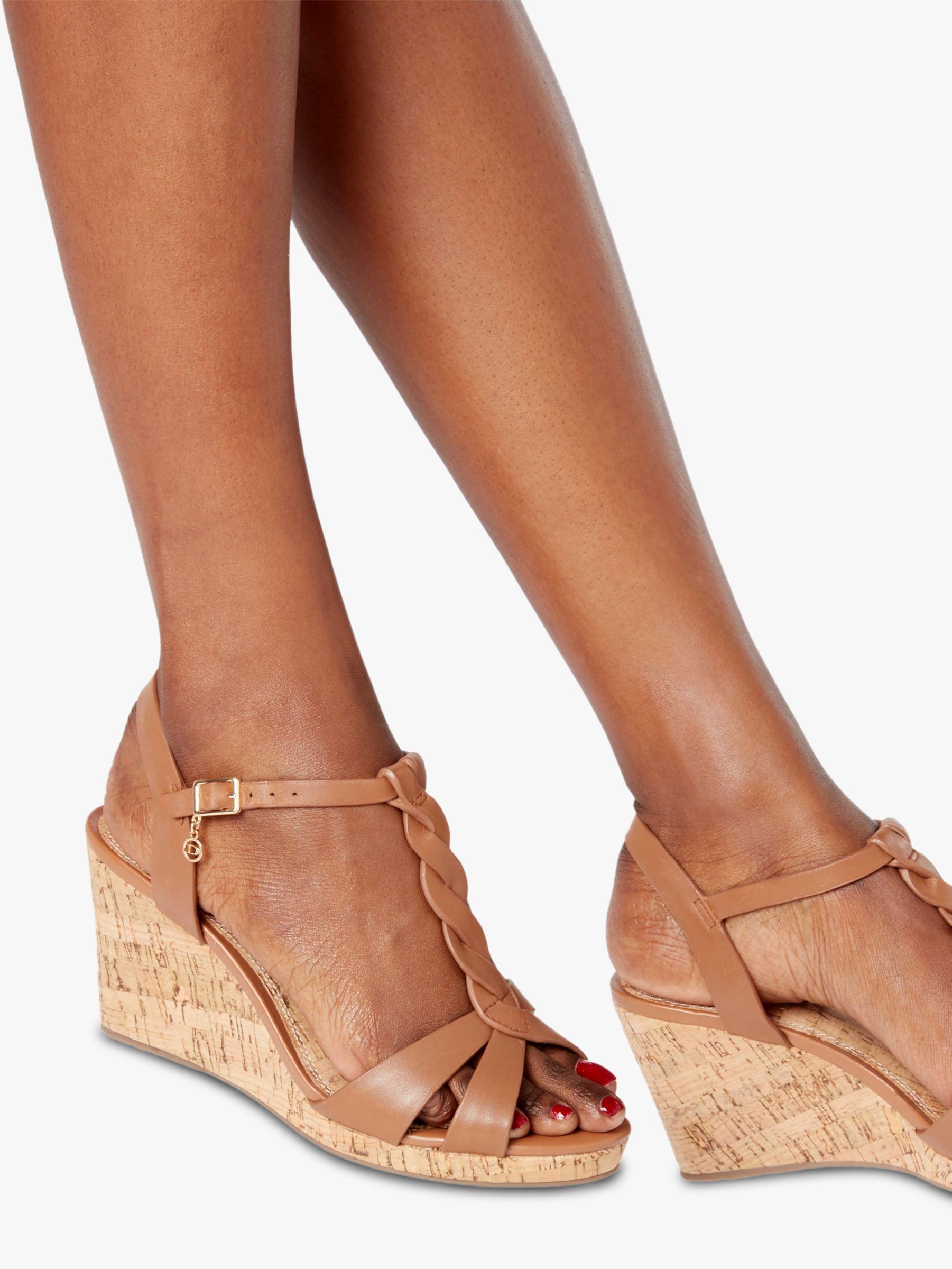 Dune Denim Koala Wedge Heel Sandals in