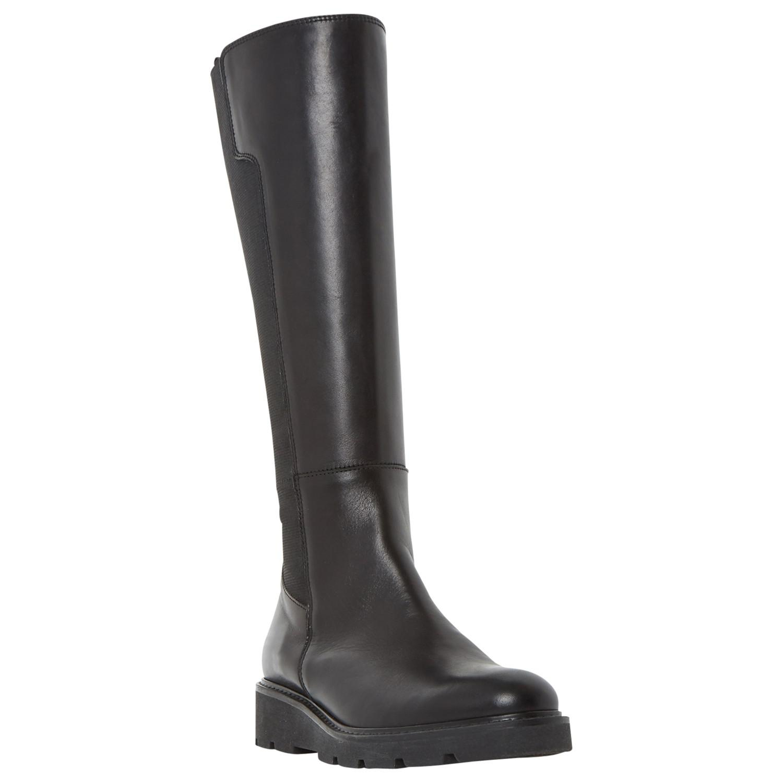 841a0129d4d Dune Tula Flatform Knee High Boots in Black - Lyst