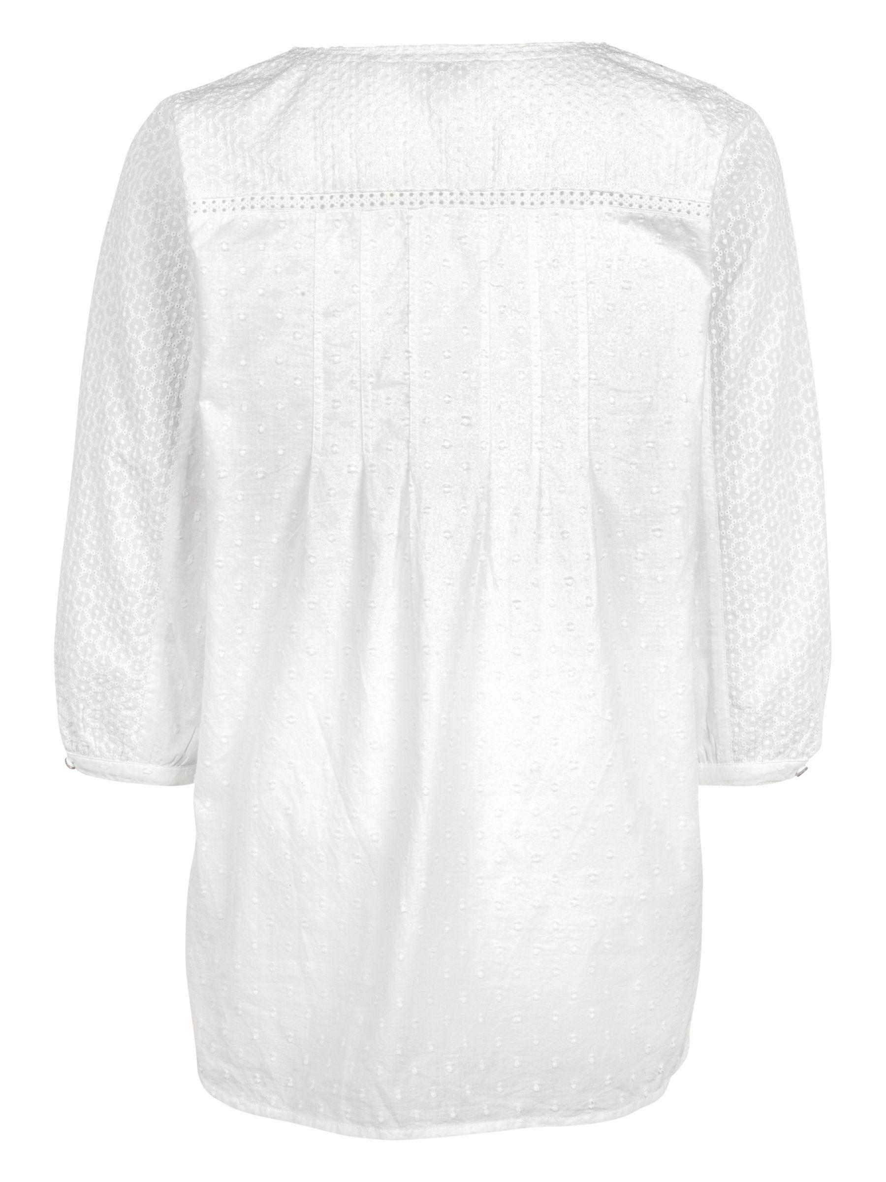 3f9043fb8e45d4 John Lewis Fat Face Phoebe Broderie Popover Blouse in White - Lyst
