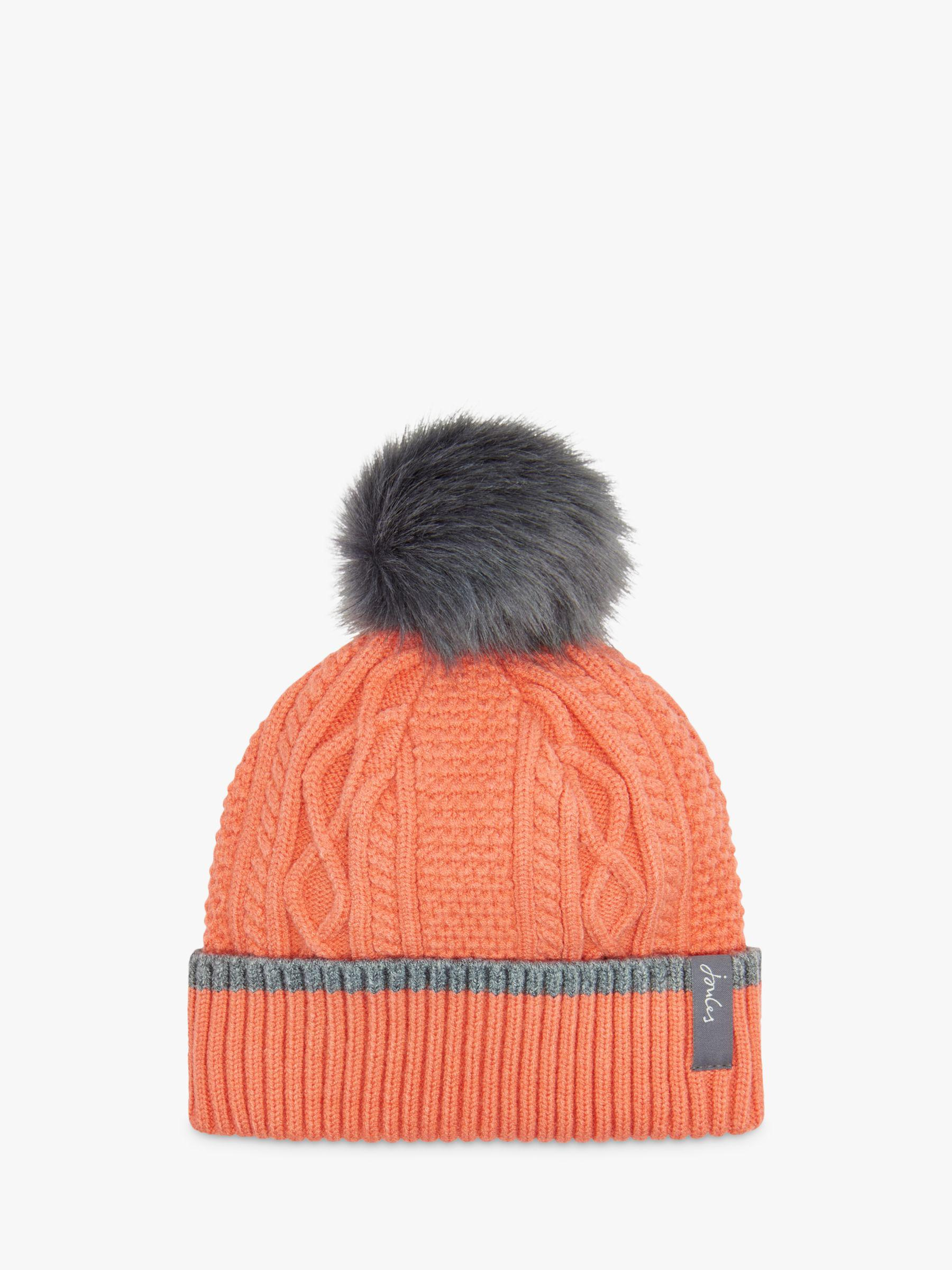 0043041564e70 Joules Anya Bobble Cable Knit Hat in Orange - Lyst