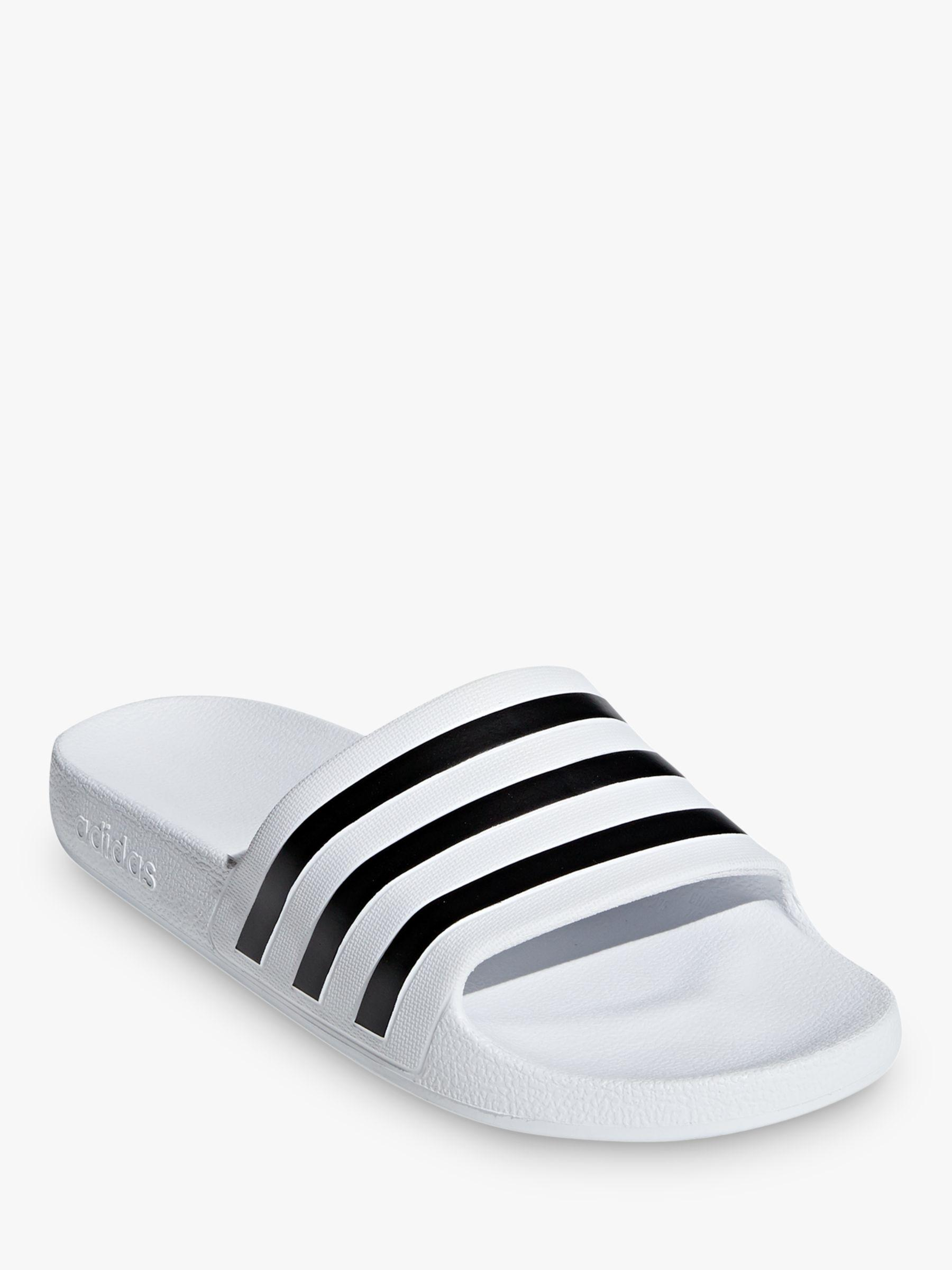 brand new 56e3e cd50a Adidas - Black Adilette Aqua Womens Slides Slippers - Lyst. View fullscreen