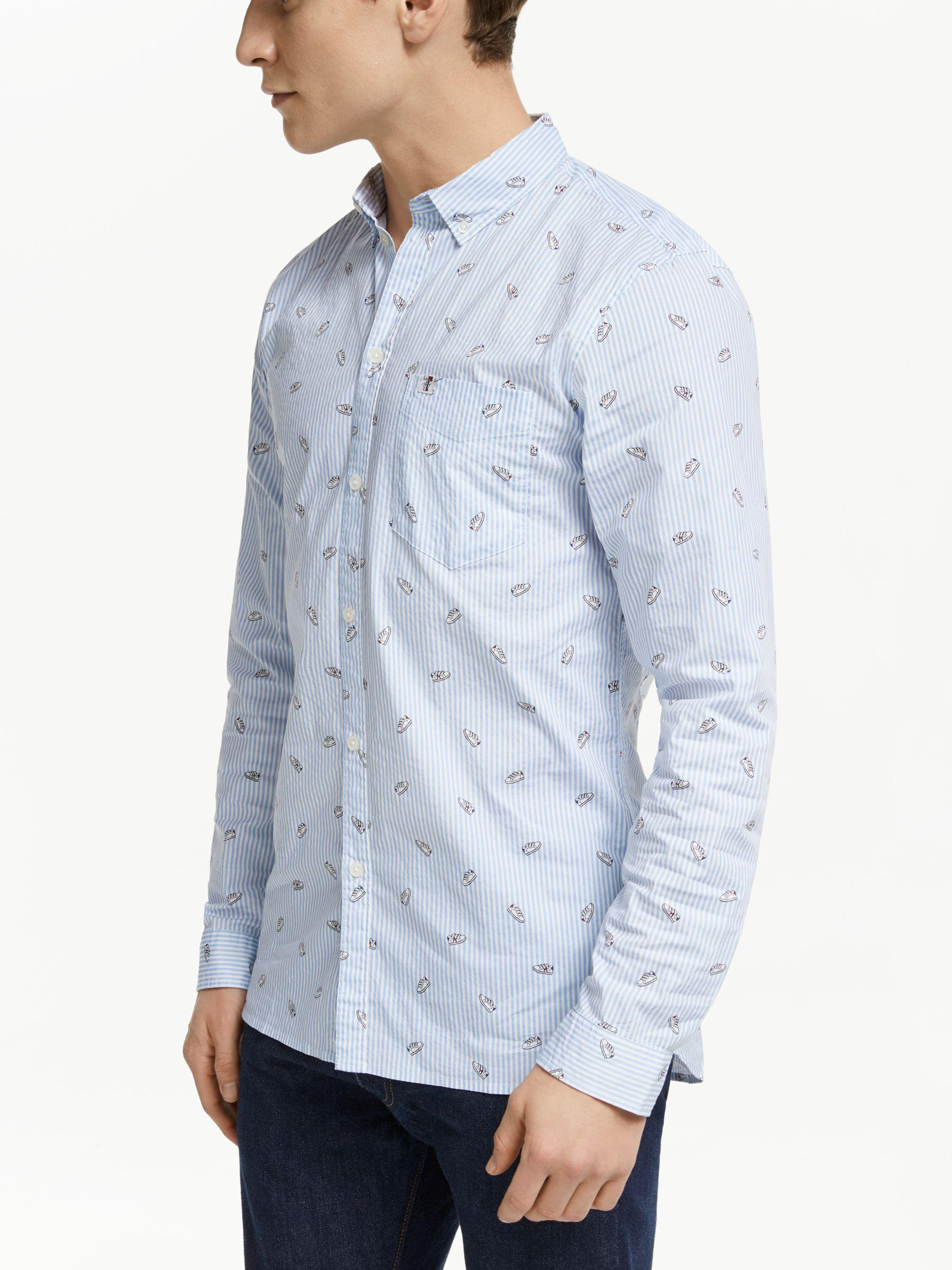 1ae12bd9afde Tommy Hilfiger Tommy Jeans Ditsy Print Shirt in Blue for Men - Lyst