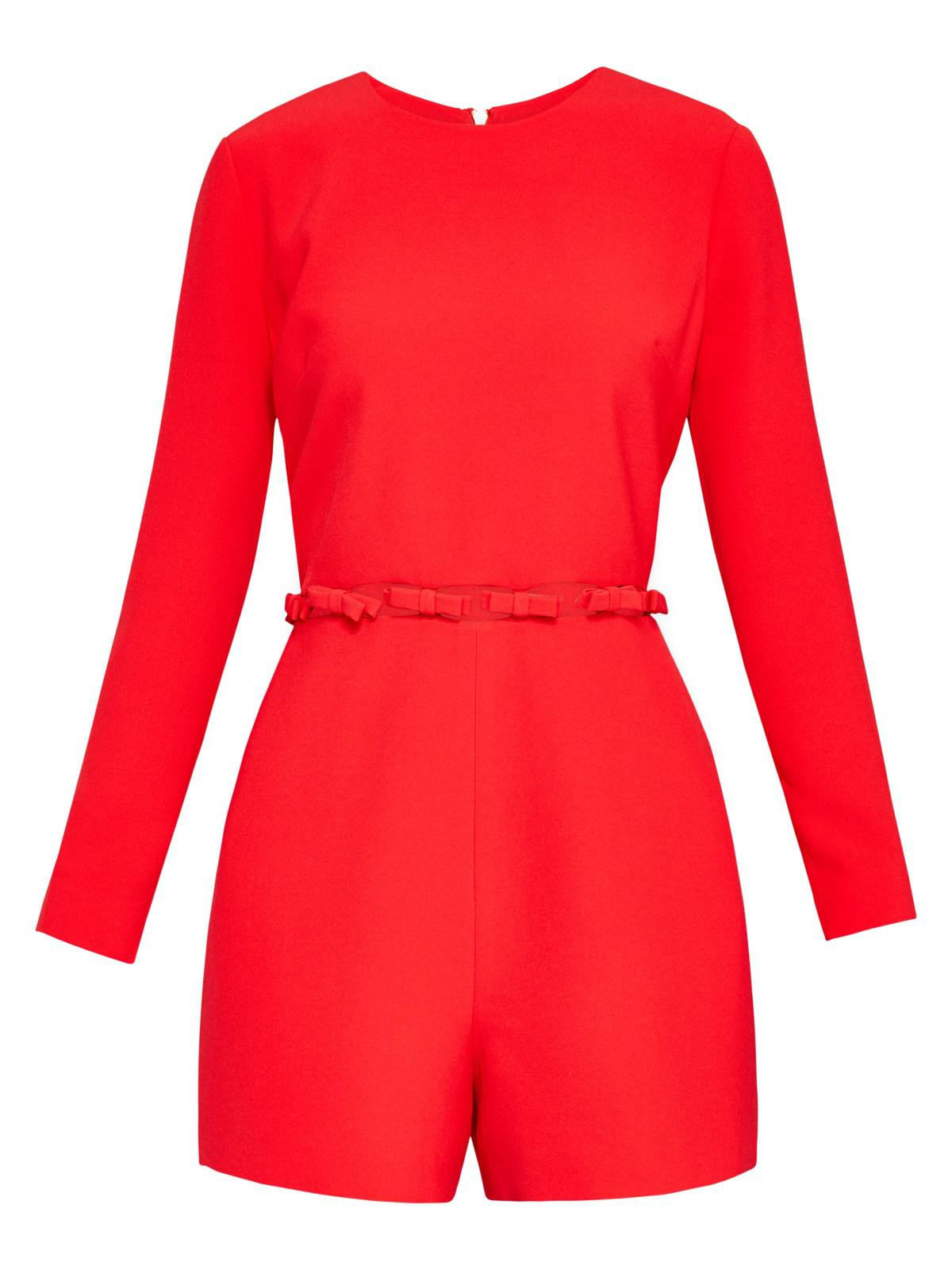 05b721de6f53 Ted Baker Tanzii Cut Out Waist Playsuit in Red - Lyst