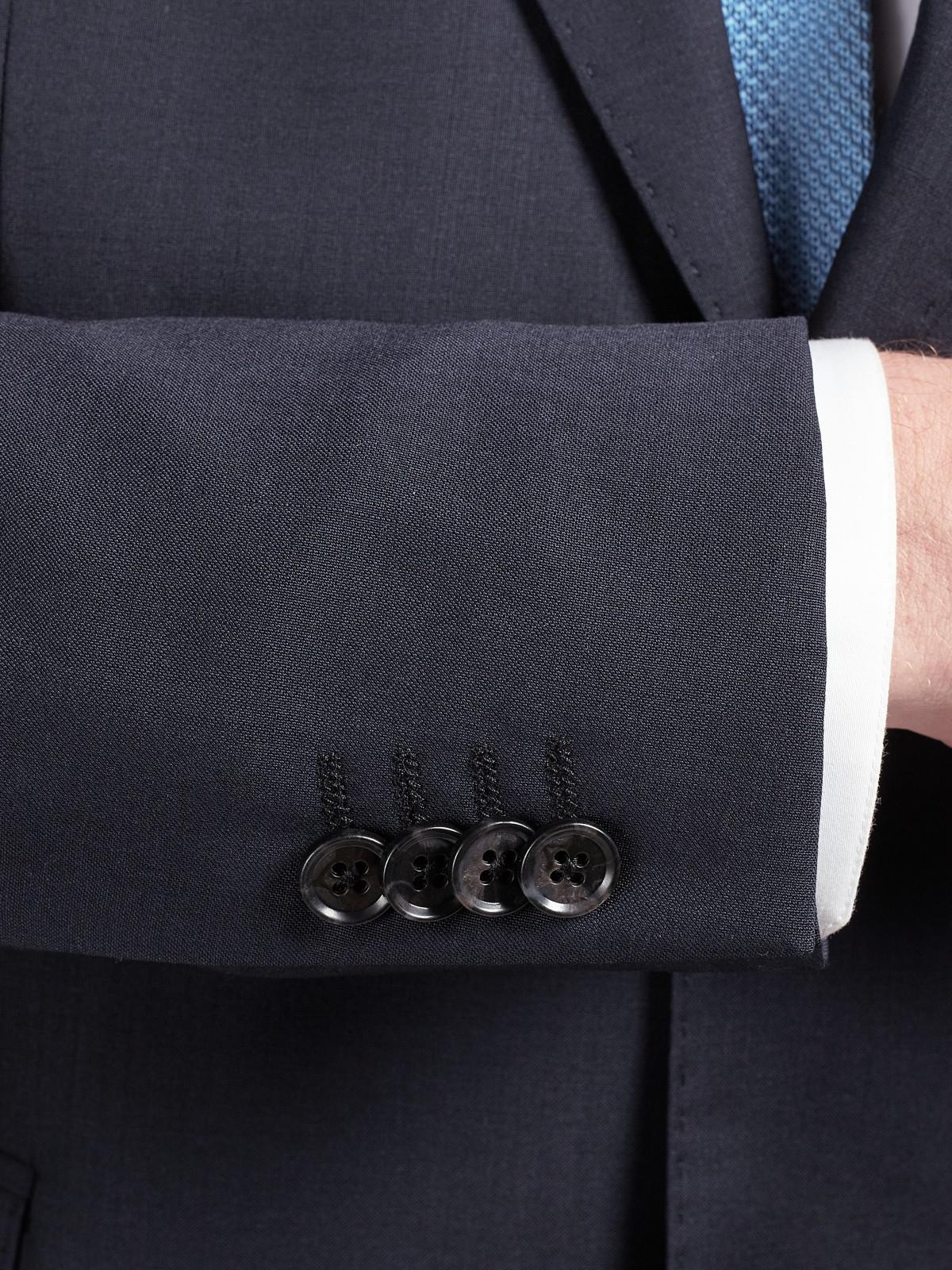 J.Lindeberg Comfort Stretch Wool Slim Suit Jacket in Navy (Blue) for Men