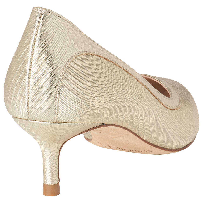 025ed707a0e L.K.Bennett Layla Kitten Heel Court Shoes in Metallic - Lyst