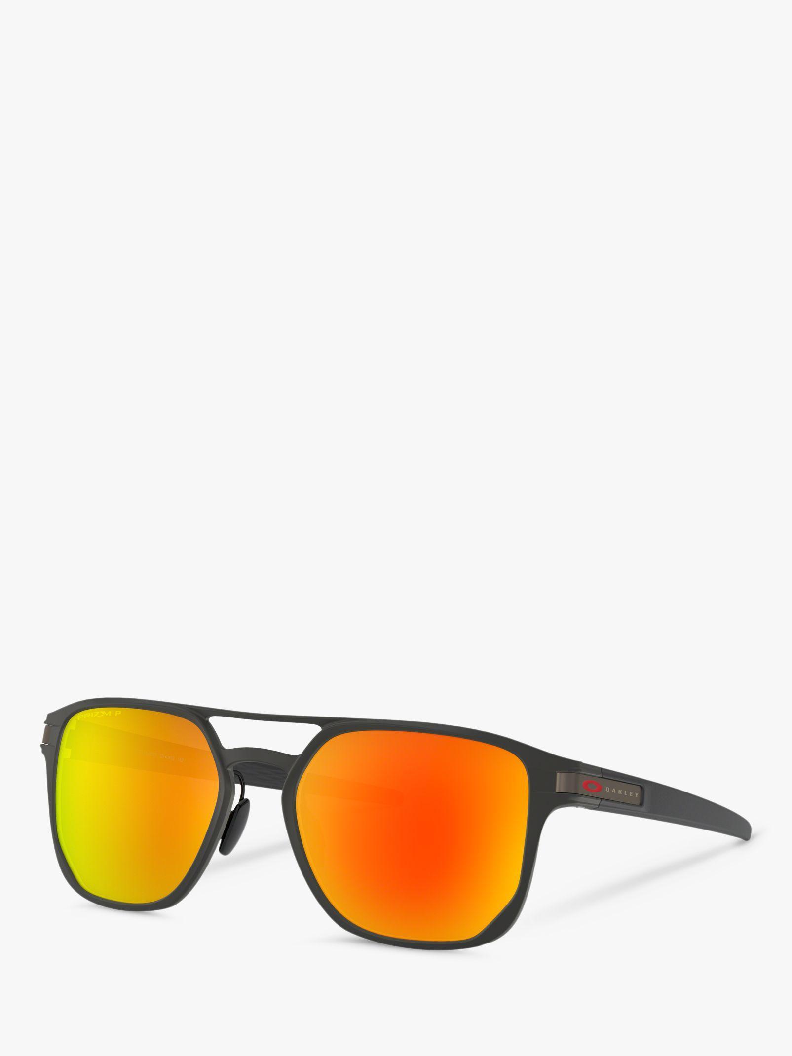 13a2b3bf801 Oakley - Multicolor Oo4128 Men s Latch Alpha Polarised Round Sunglasses for  Men - Lyst. View fullscreen