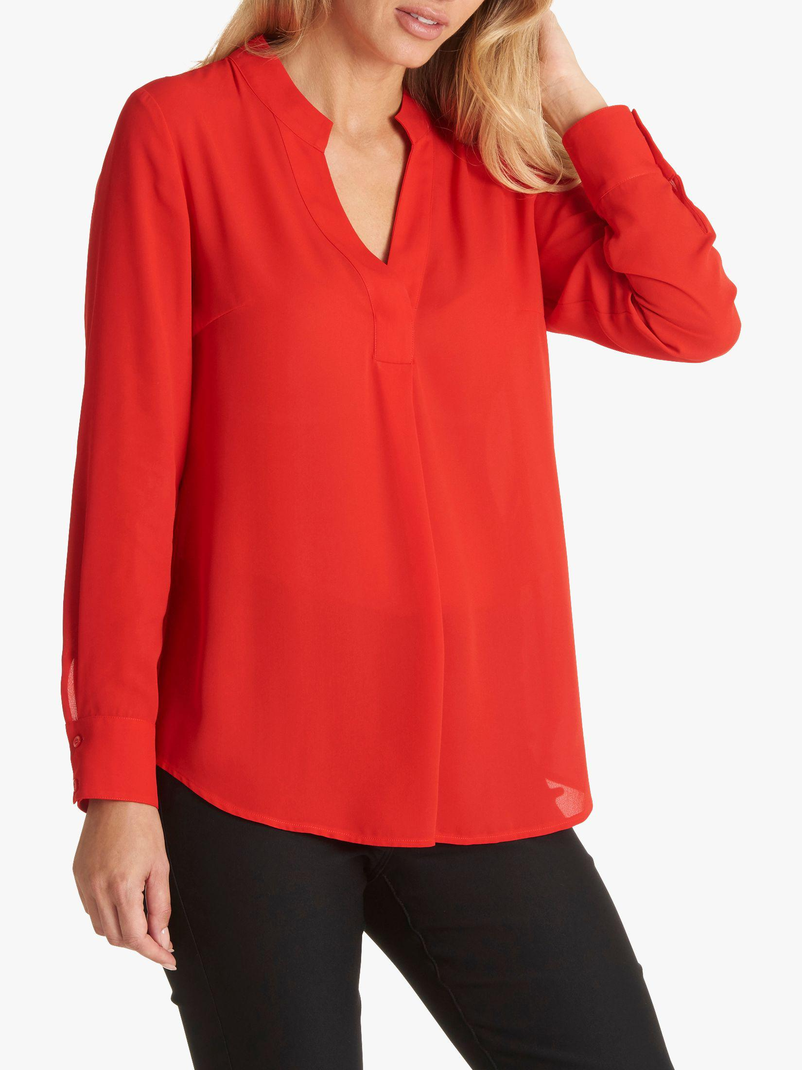 ef7f8956c3cf5 Betty Barclay V-neck Blouse in Red - Lyst