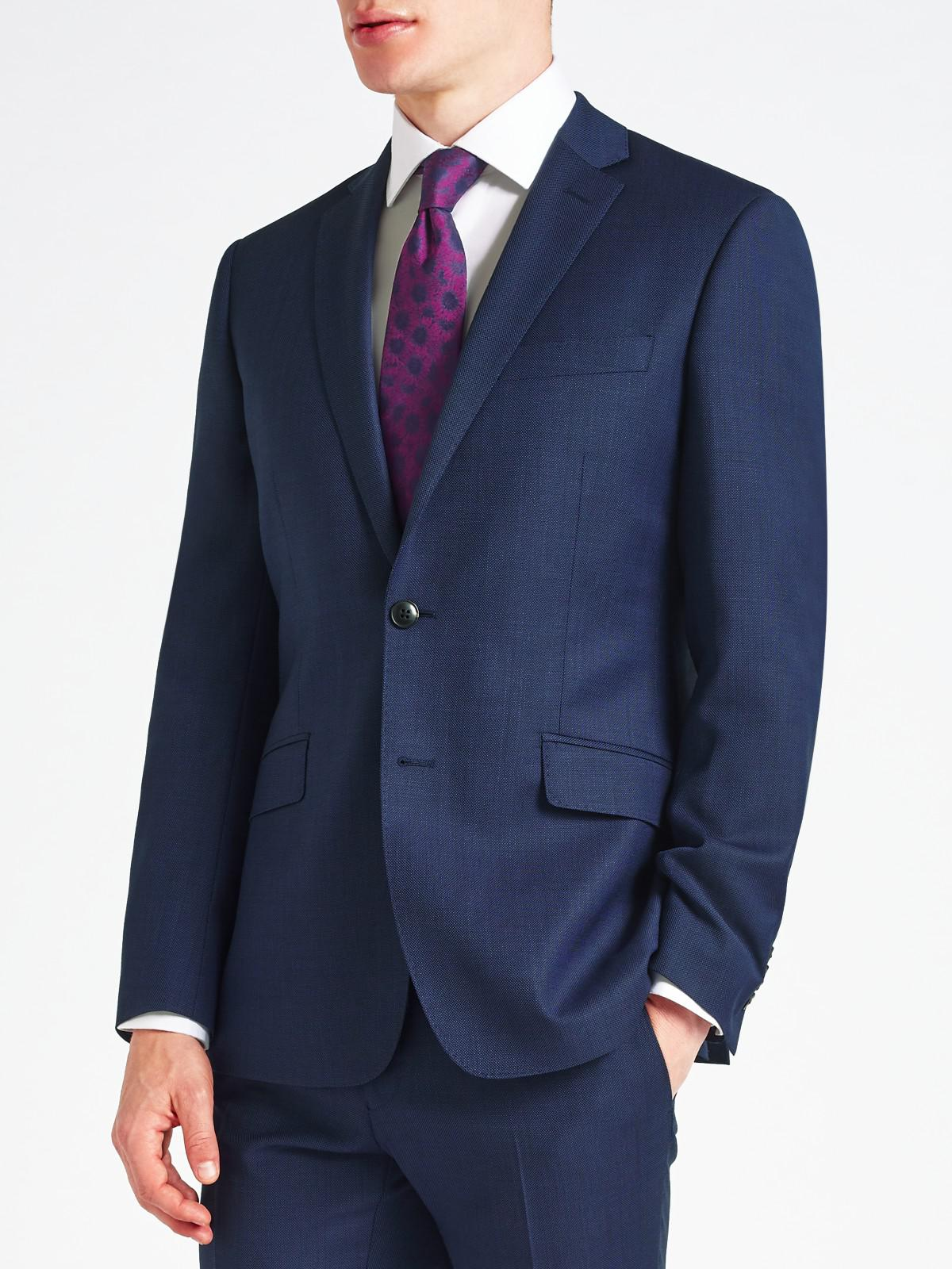 Richard James Wool Pindot Slim Suit Jacket in Electric Blue (Blue) for Men