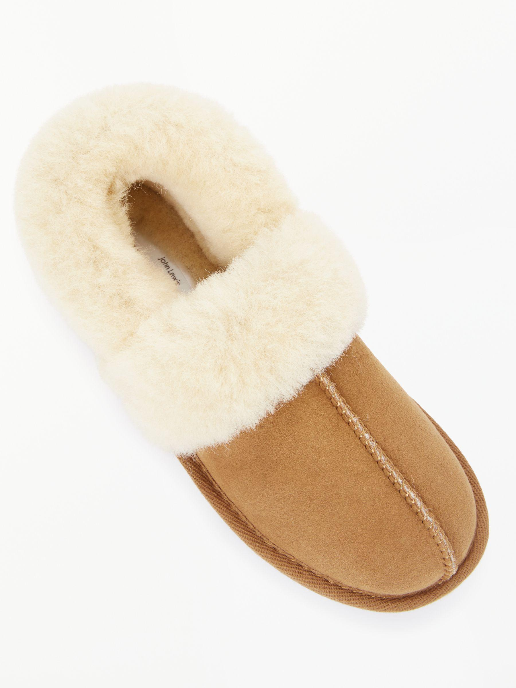 03424f60ce2e John Lewis Comfort Cuff Sheepskin Slippers in Brown - Lyst