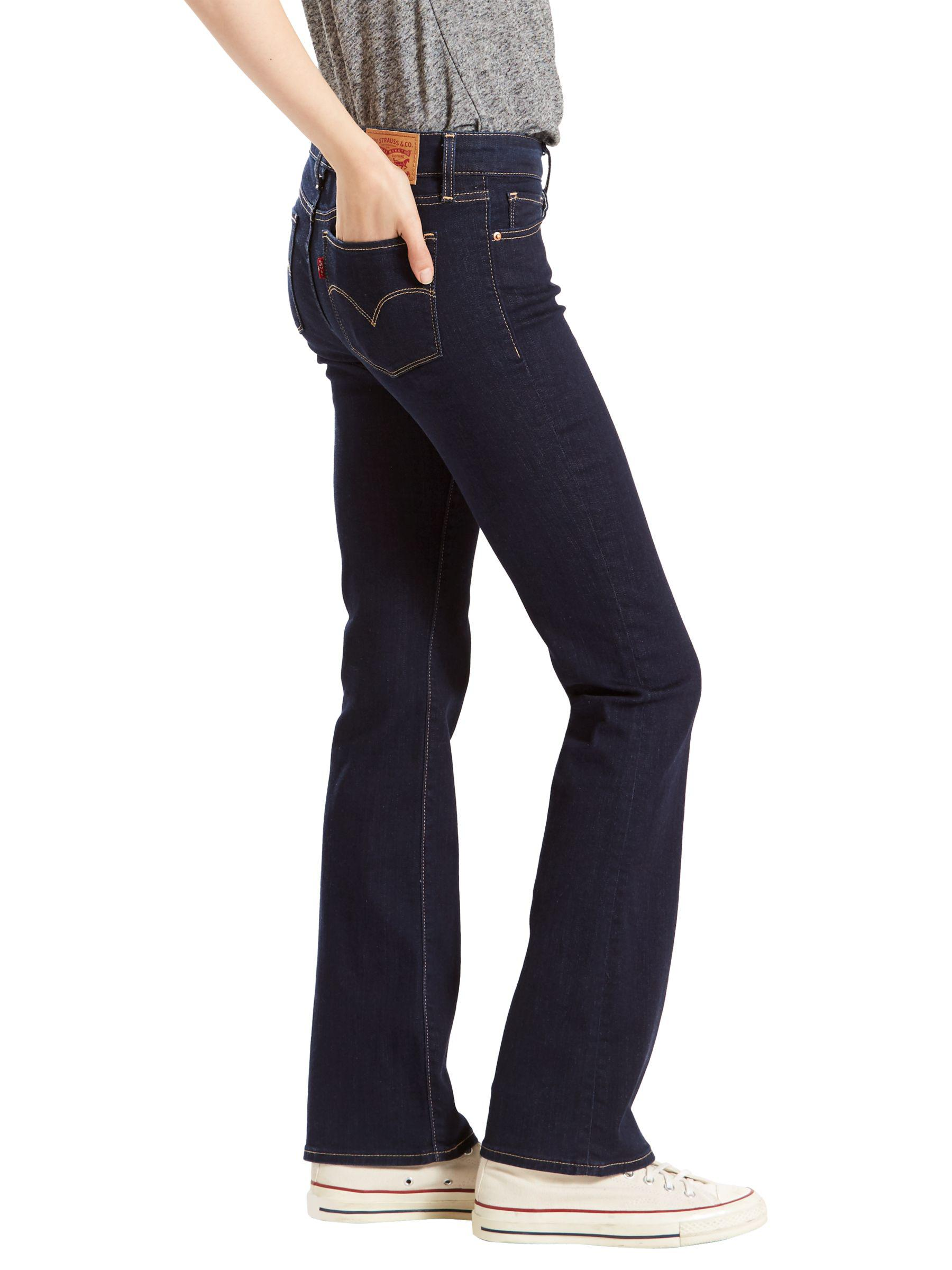 Levi's Denim 715 Mid Rise Bootcut Jeans in Blue