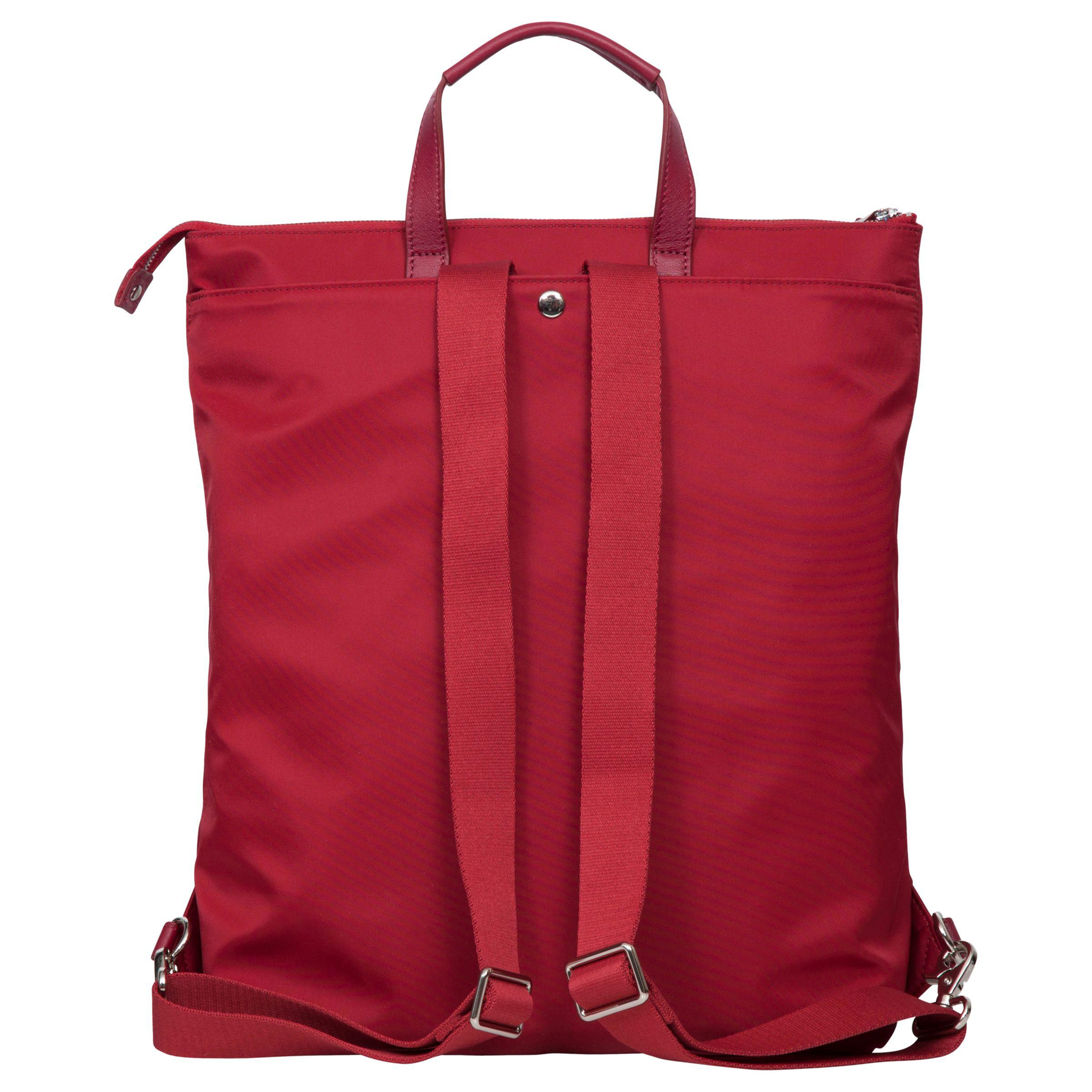 "Knomo Harewood Slim Tote Backpack For 15"" Laptop in Cherry (Red)"