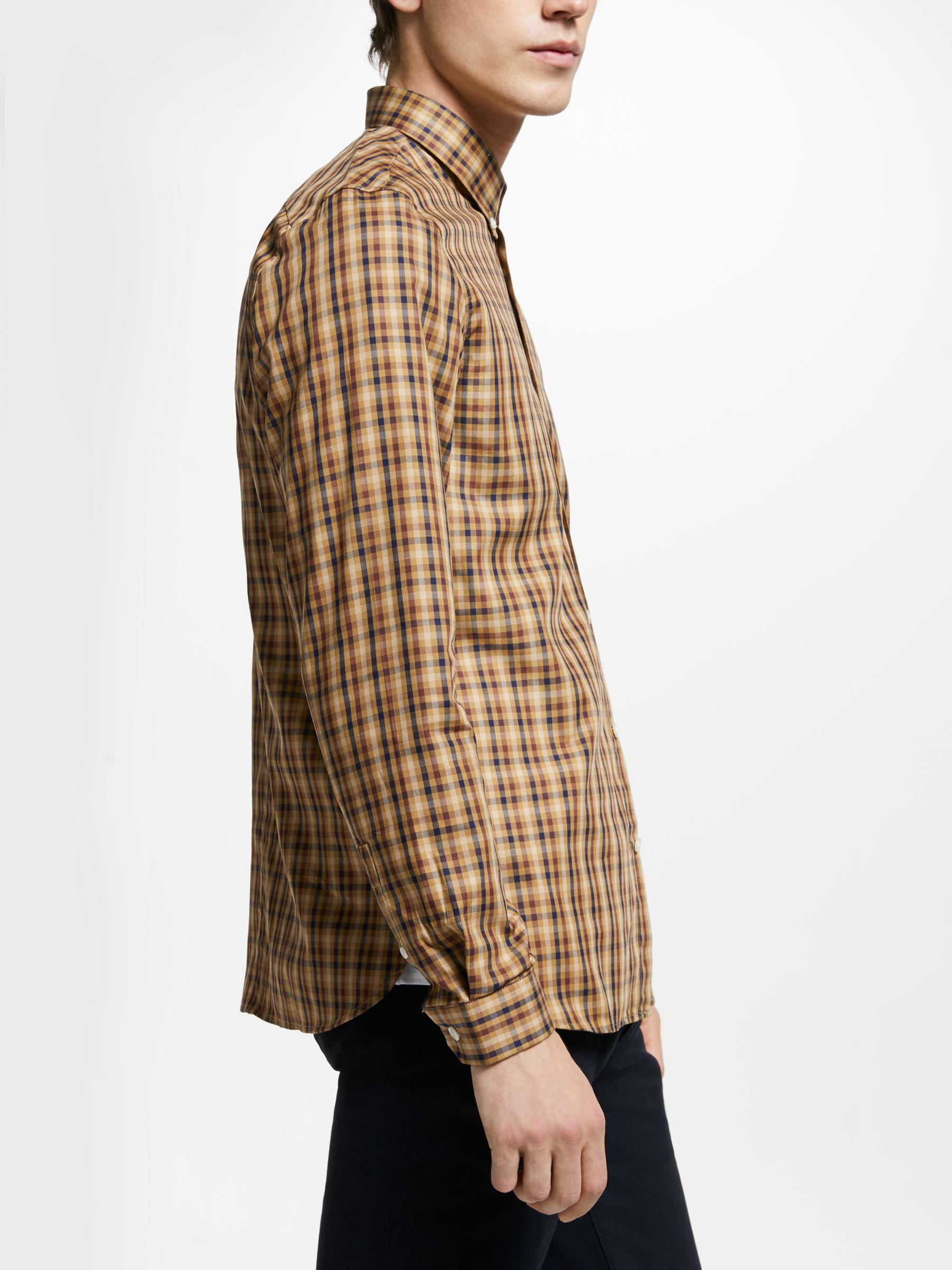 b0913f8b4 Fred Perry - Multicolor Twill Checked Long Sleeve Shirt for Men - Lyst.  View fullscreen