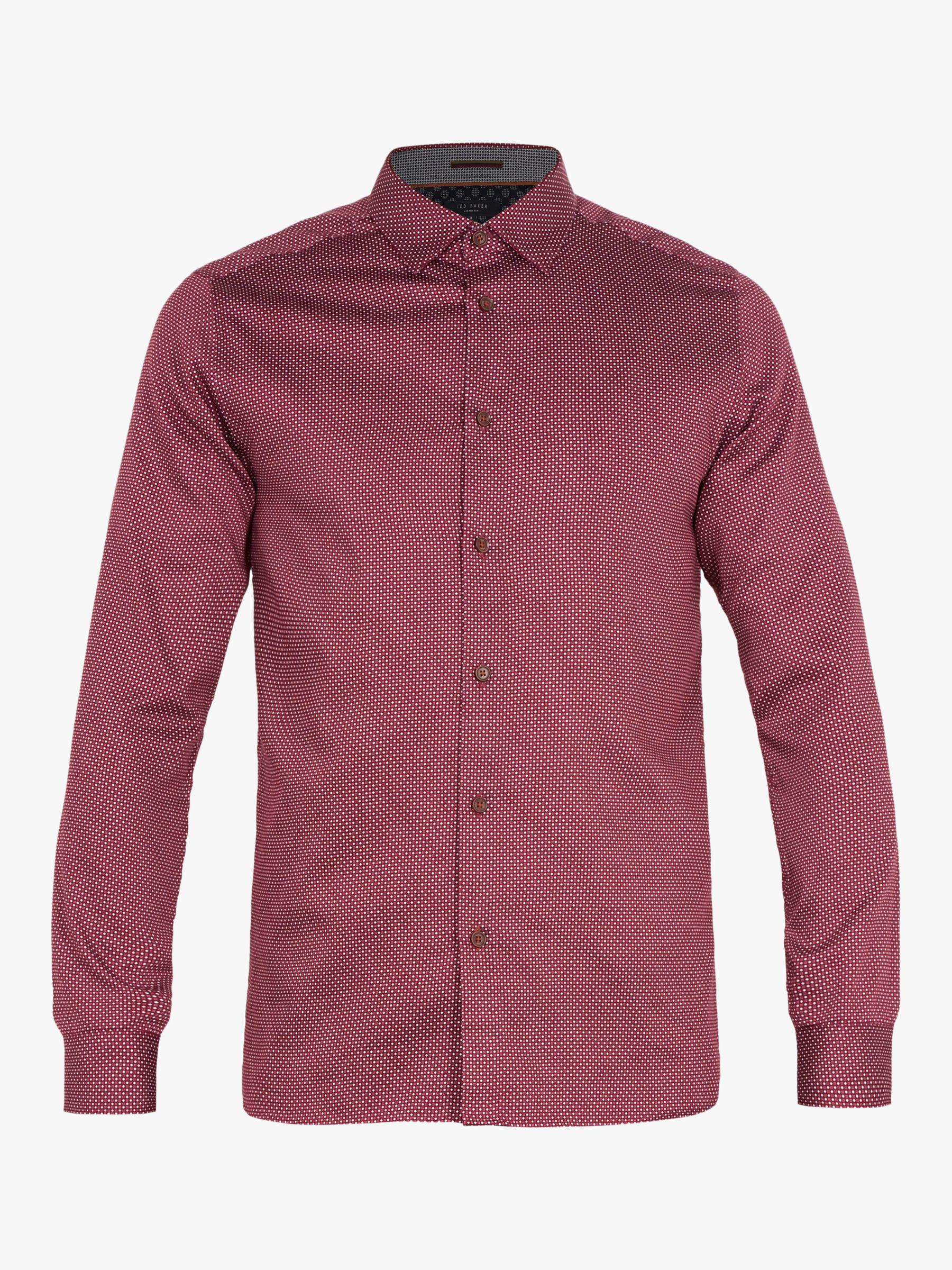 336889d10 Ted Baker Subik Geo Print Slim Fit Shirt in Purple for Men - Lyst