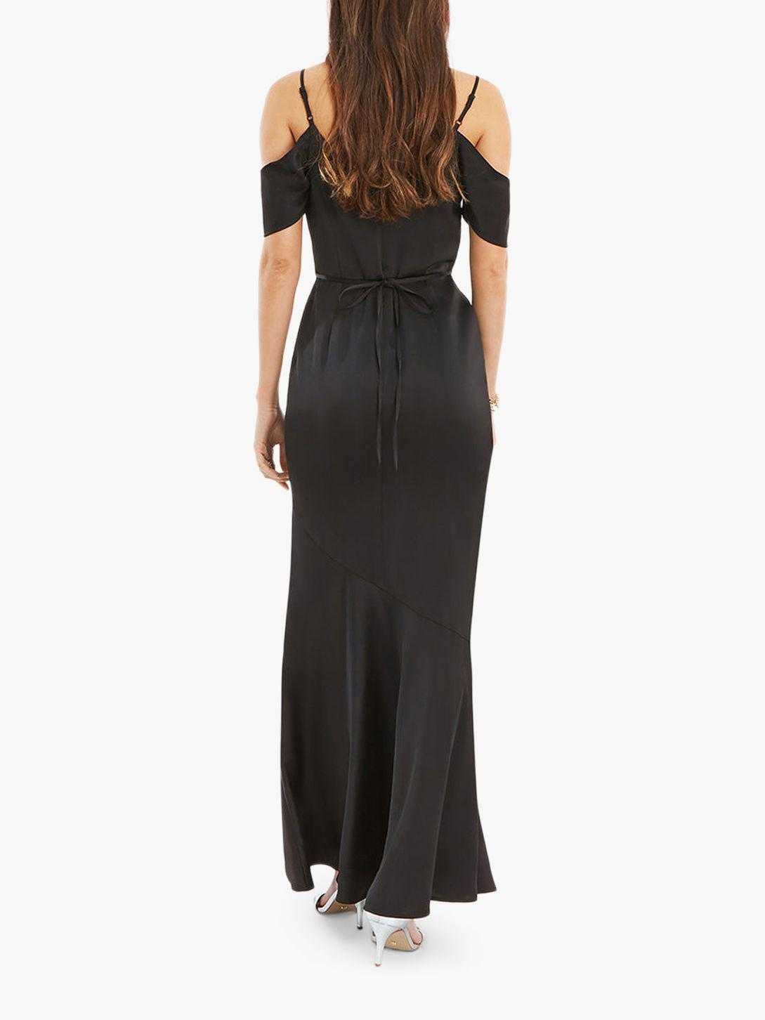 ca1f9e249fb4 Oasis Amy Slinky Off Shoulder Slinky Maxi Dress in Black - Lyst