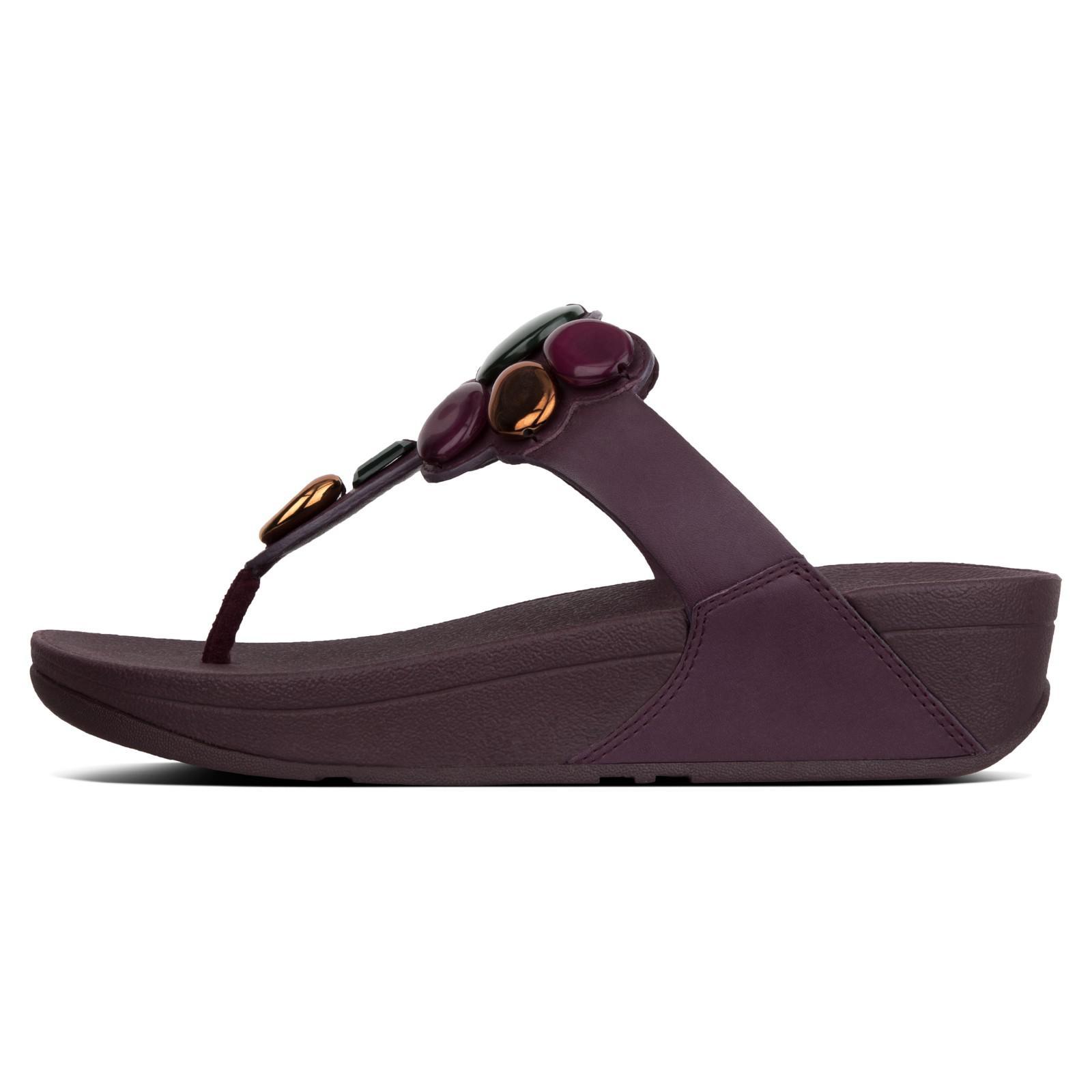 aa0fc54d6db Fitflop Honeybee Jewelled Toe Post Sandals in Purple - Lyst